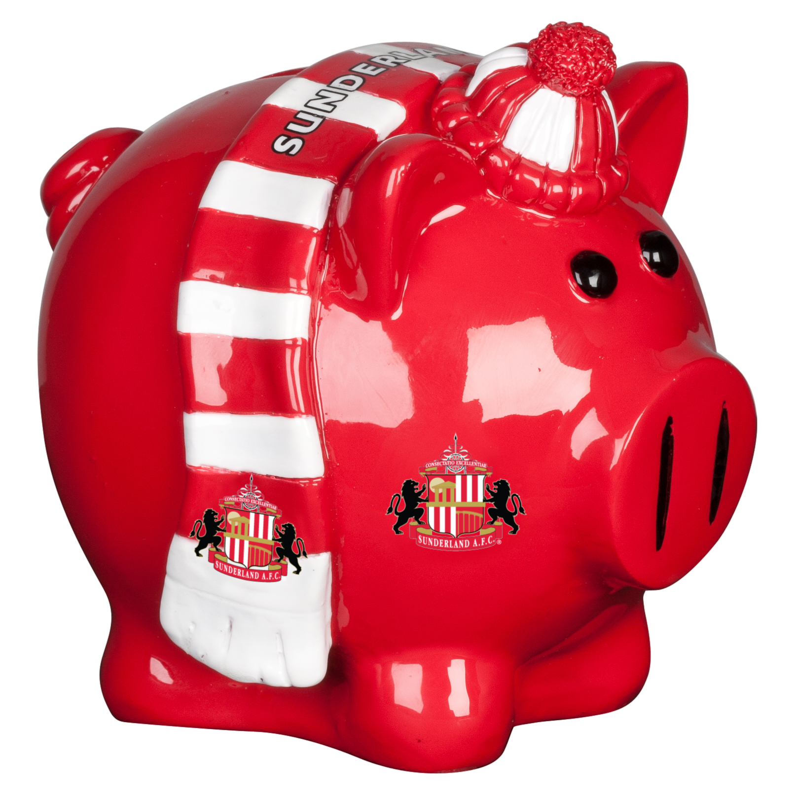 Sunderland Scarf Themed Small Piggy Bank - 4x4inch