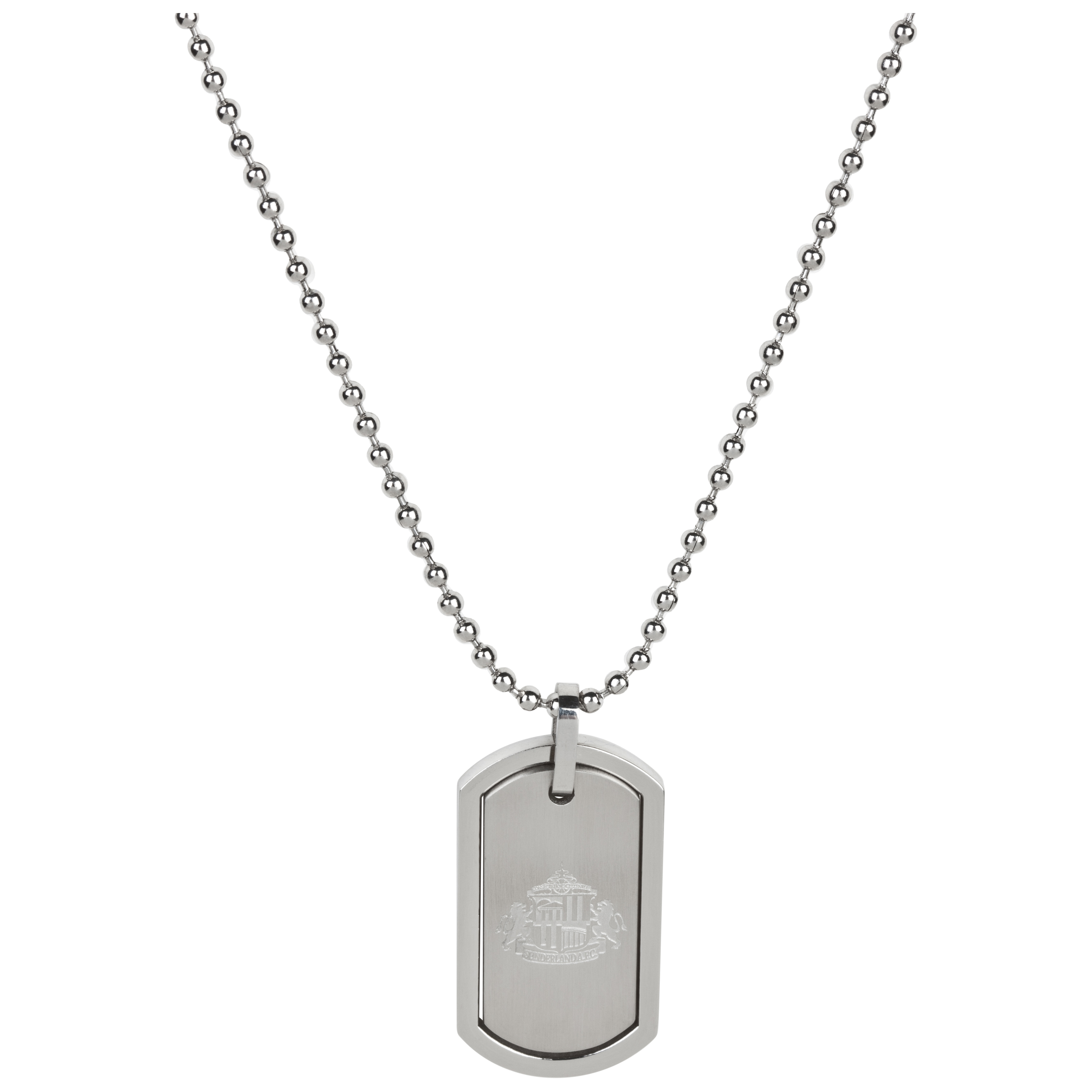 Sunderland Stainless Steel Double Dog Tag and Ball Chain