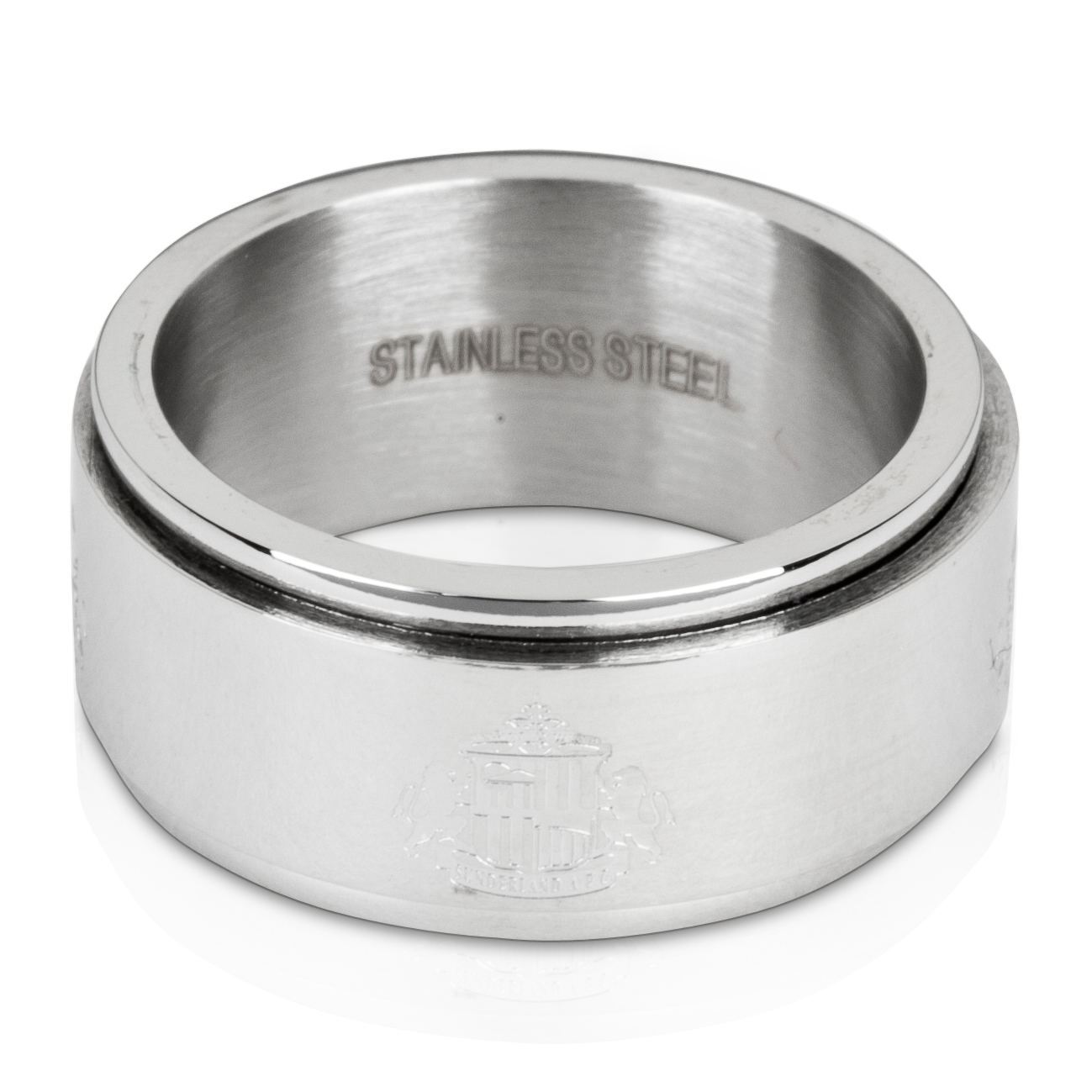 Sunderland Stainless Steel Spinner Band Ring