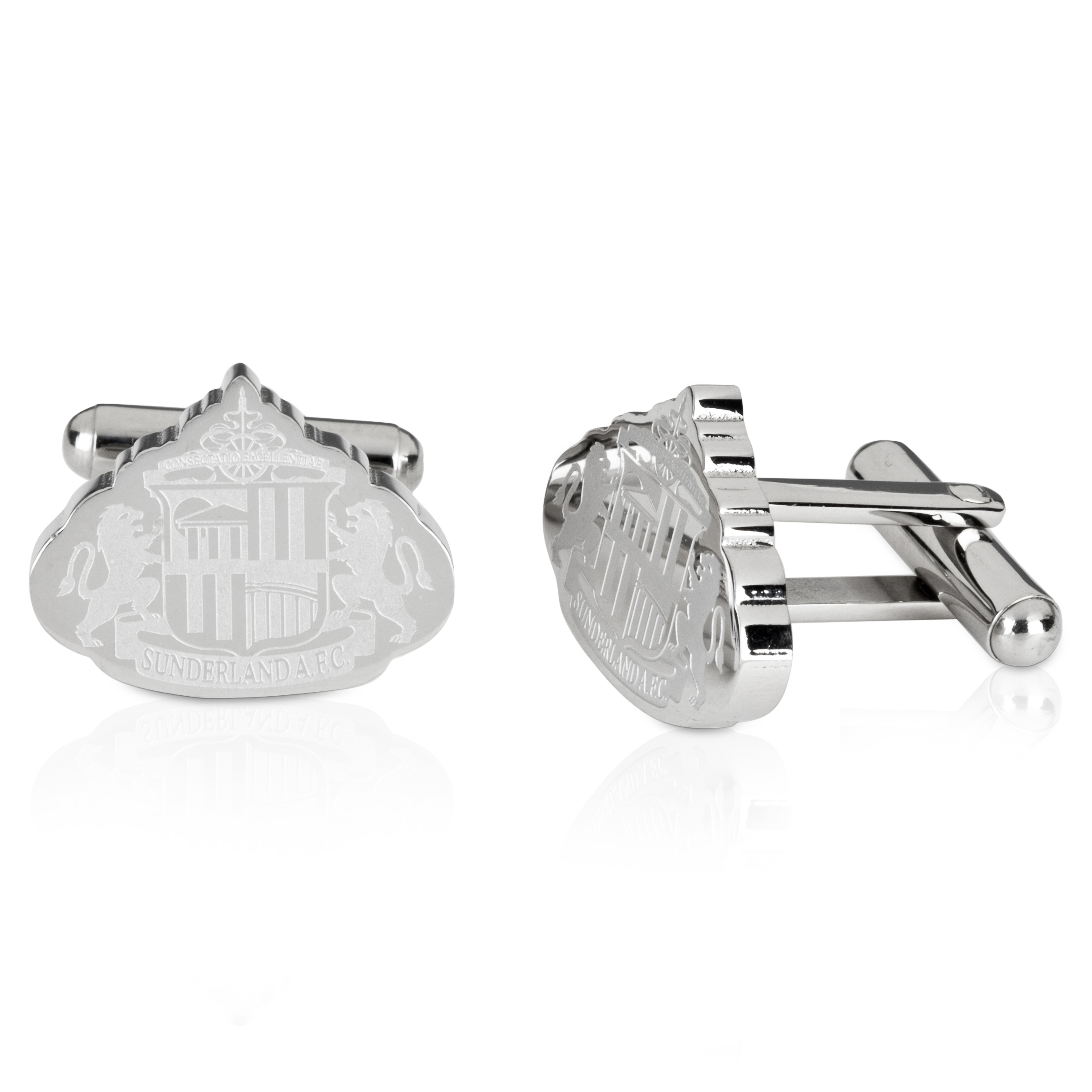 Sunderland Stainless Steel Cutout Cufflinks