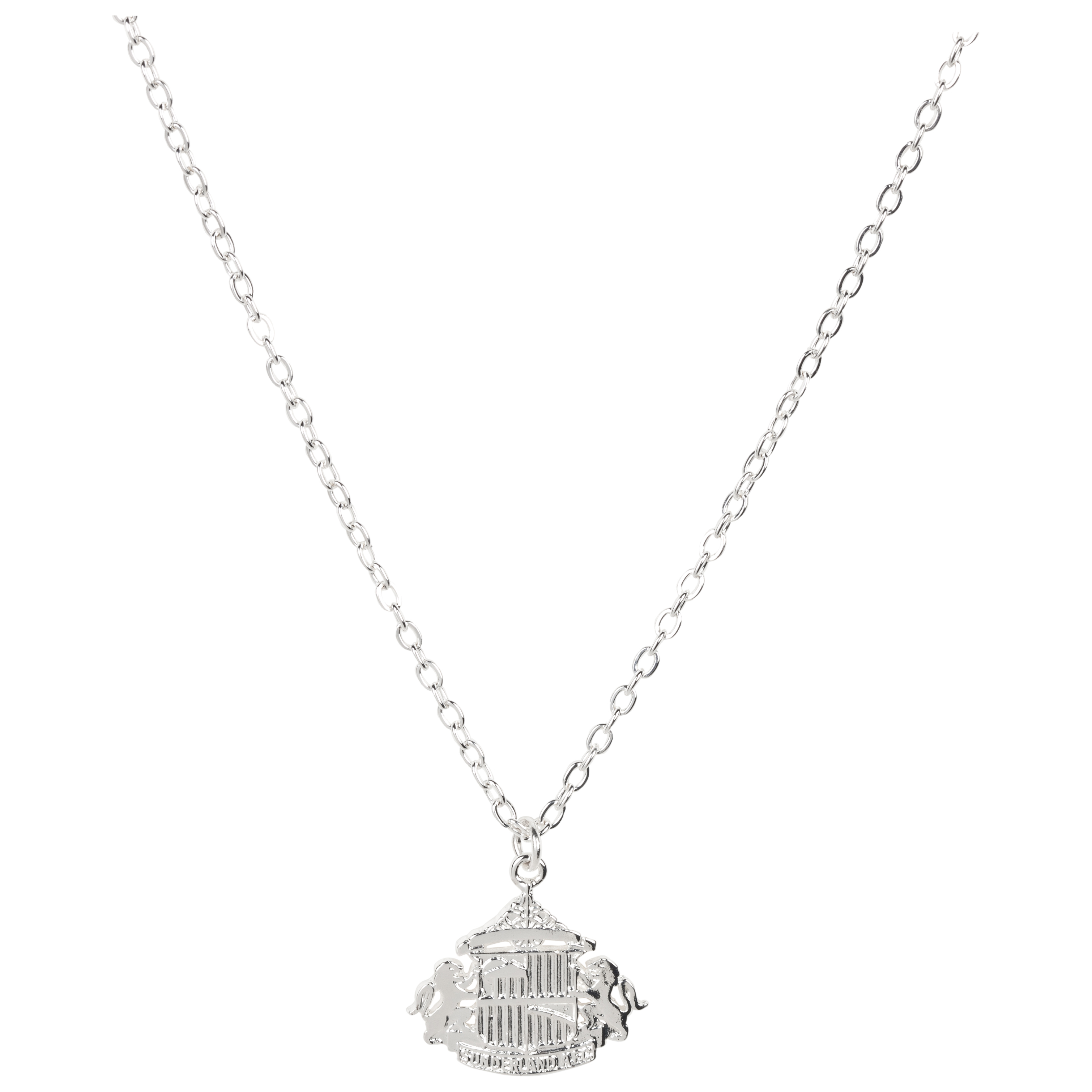 Sunderland Silver Plated Large Pendant and Chain