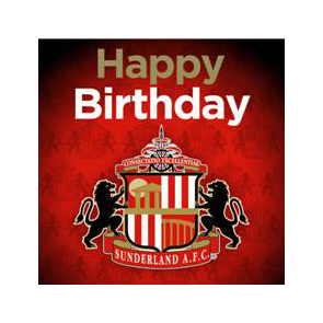 Sunderland Crest Birthday Card