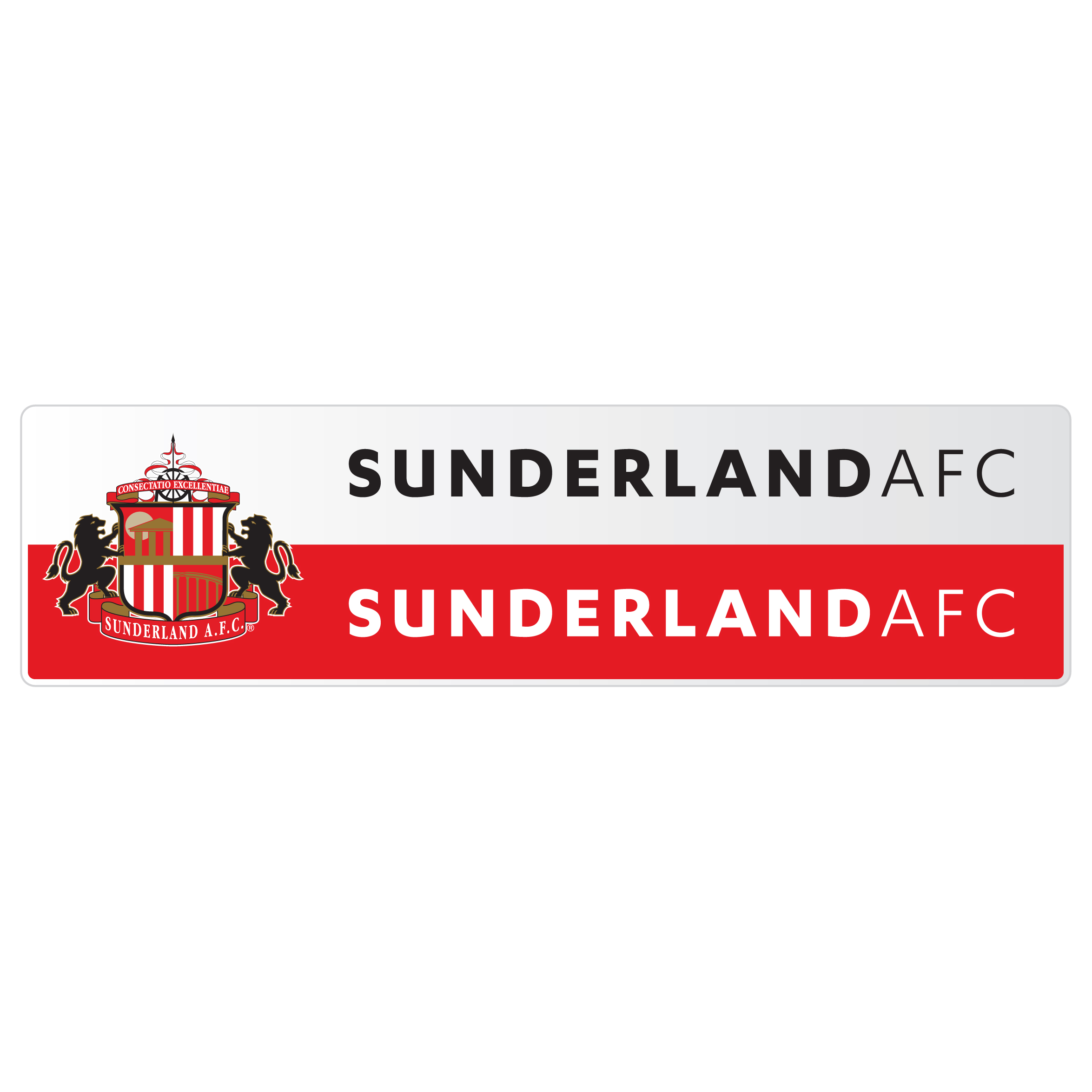 Sunderland Small Rectangle Sticker