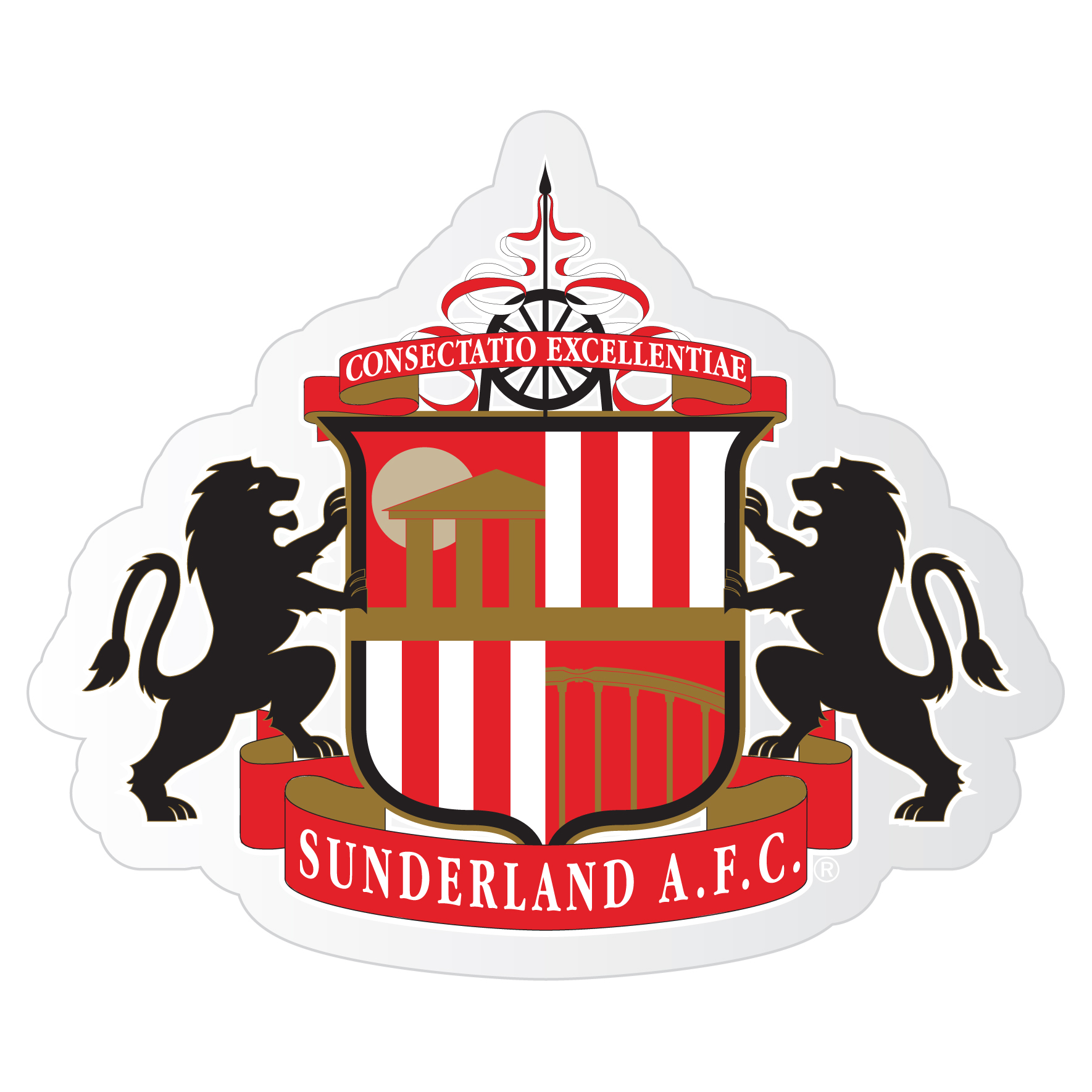 Sunderland Small Crest Car Sticker
