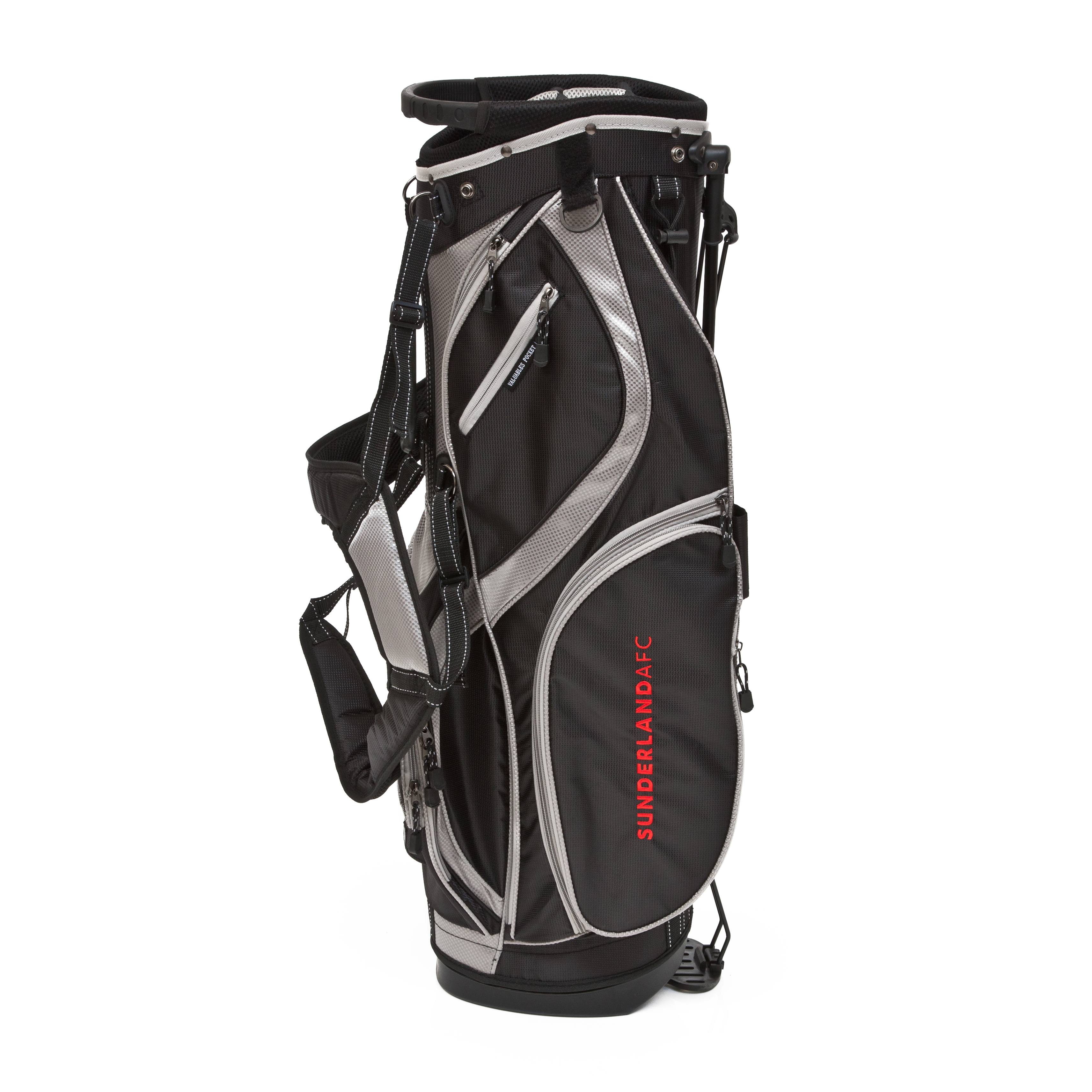 Sunderland Executive Golf Stand Bag - Black/Silver