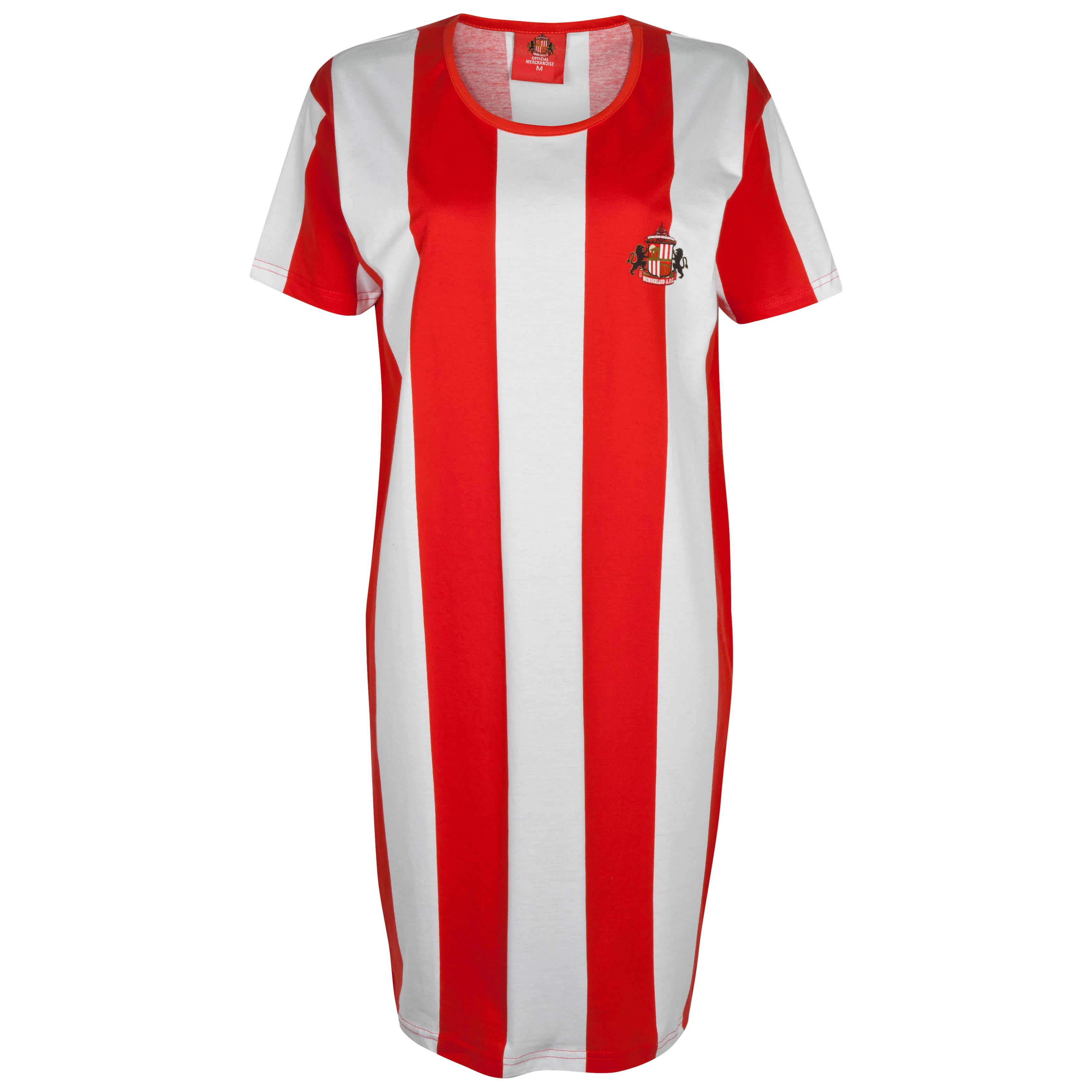 Sunderland Ladies Stripe Nightie