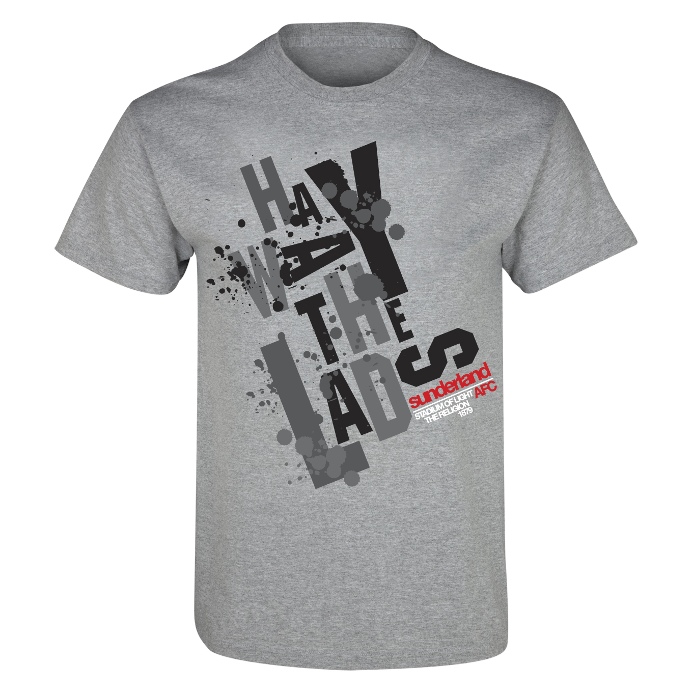 Sunderland 2 for 15 Lads T-Shirt - Grey Marl - Junior