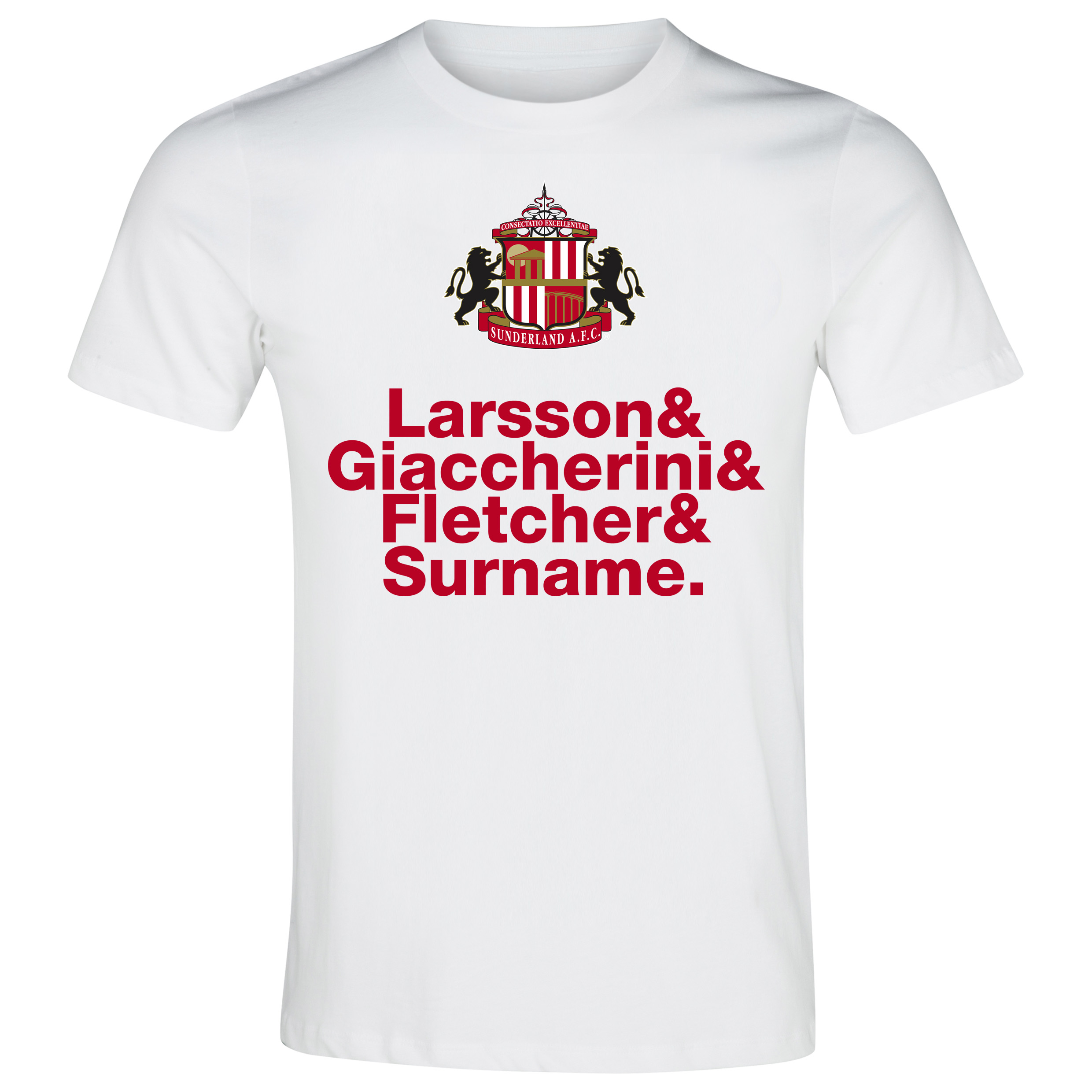 Sunderland Personalised Player T-Shirt