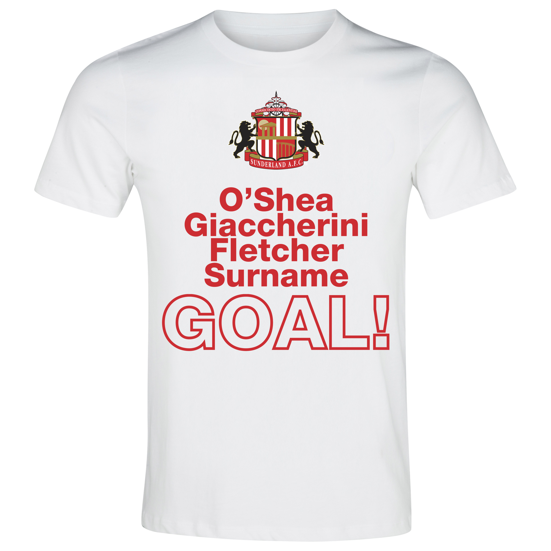 Sunderland Personalised Goal T-Shirt