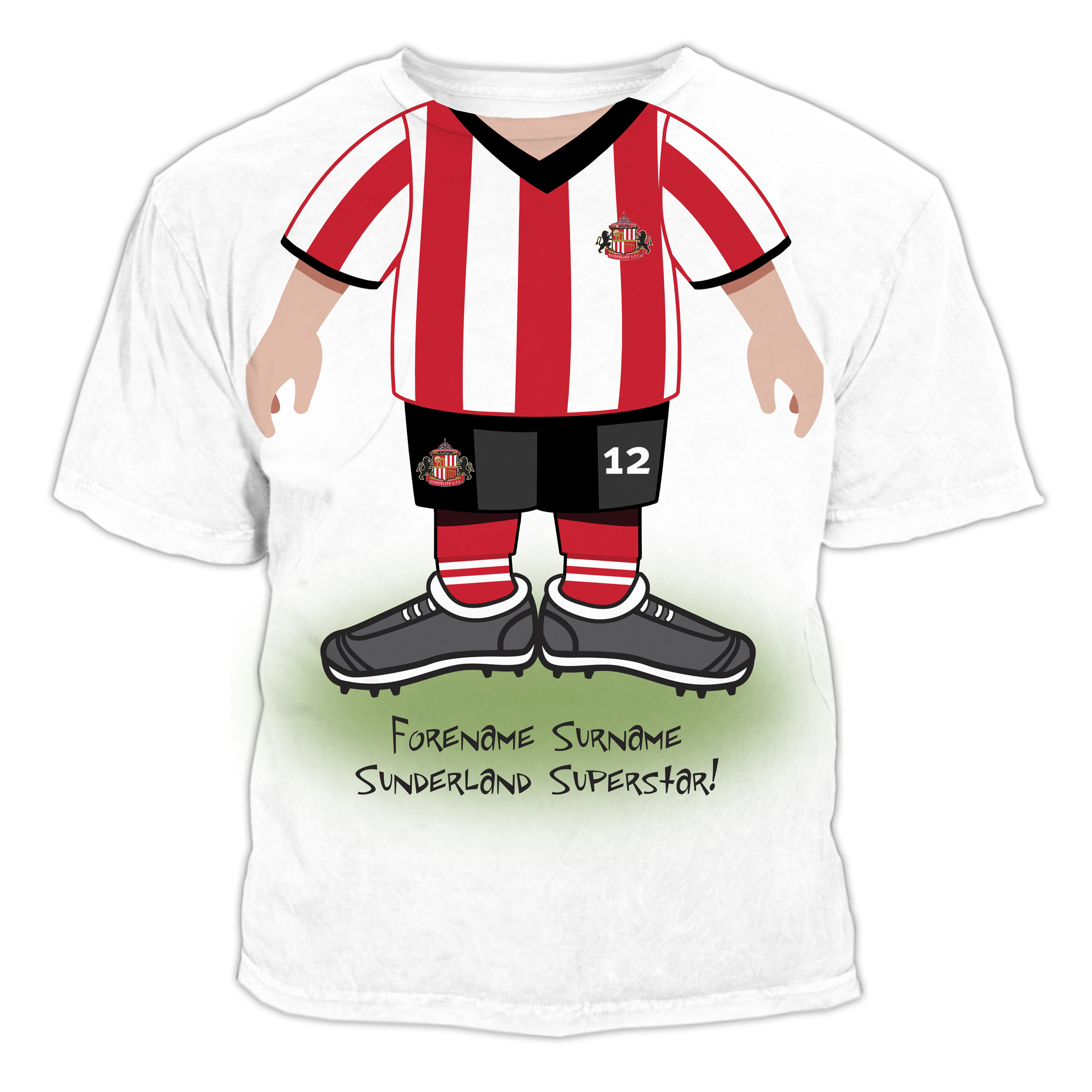 Sunderland Personalised Use Your Head T-Shirt - Junior