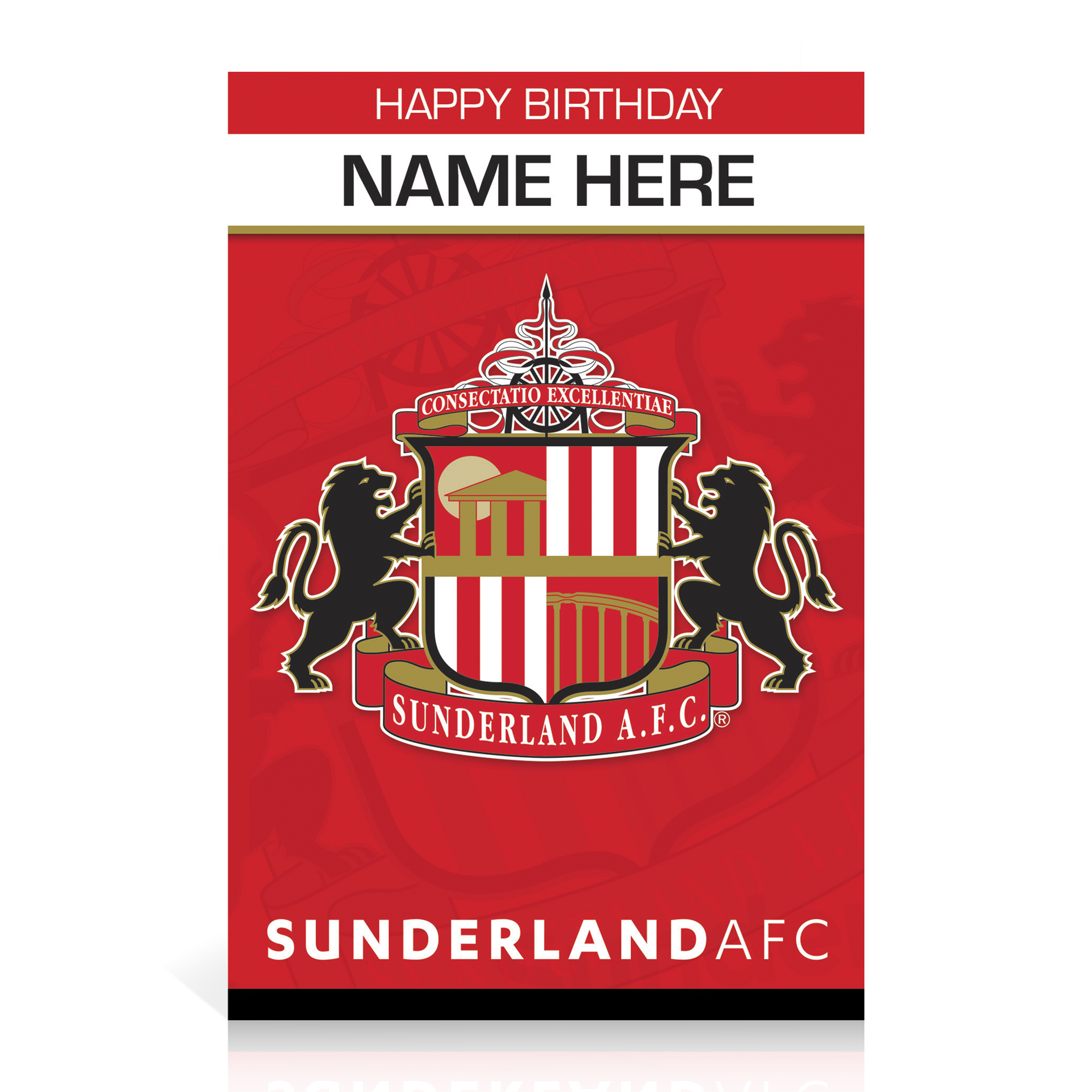 Sunderland  Personalised Happy Birthday Card - Crest