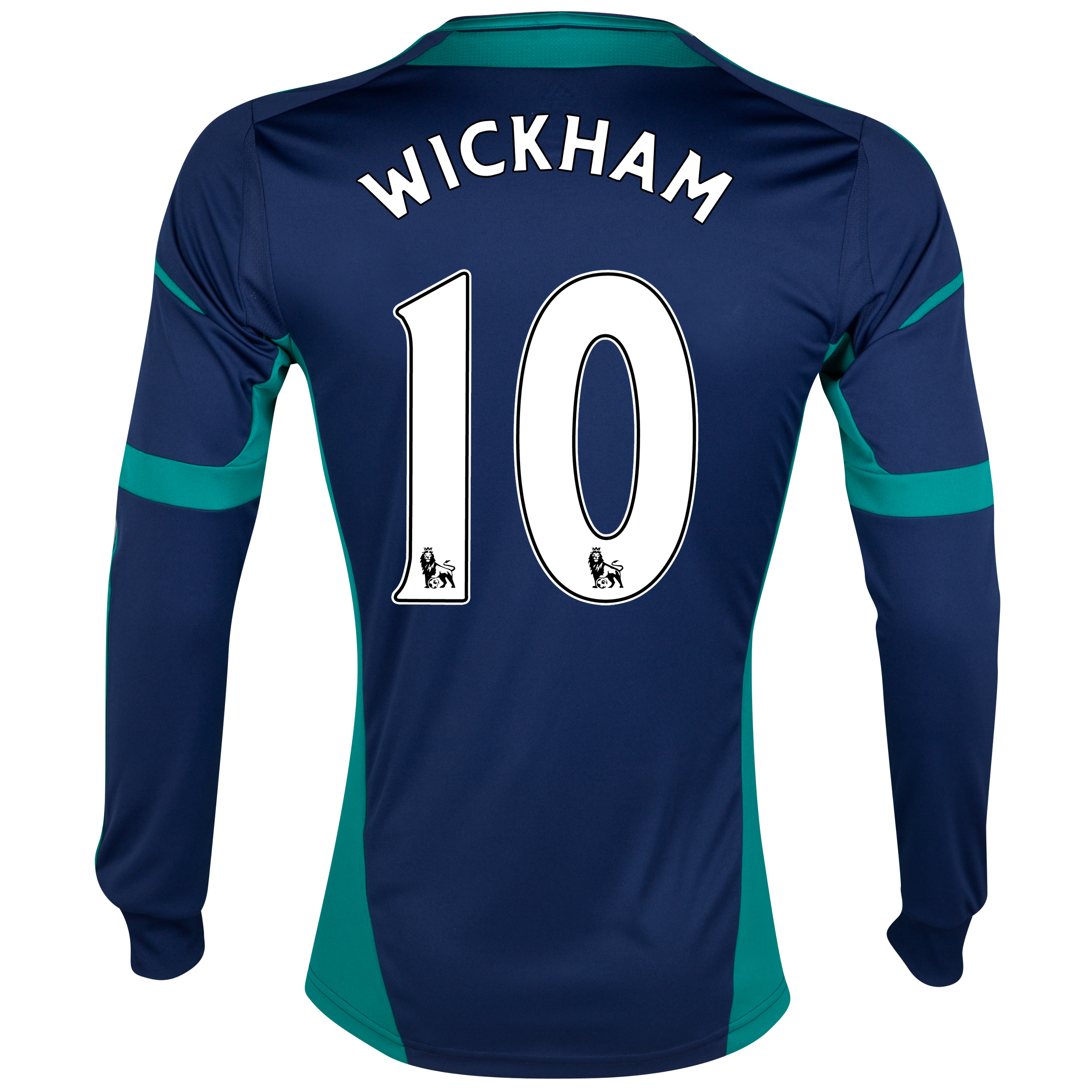 Sunderland Away Shirt 2012/13 - Long Sleeved with Wickham 10 printing