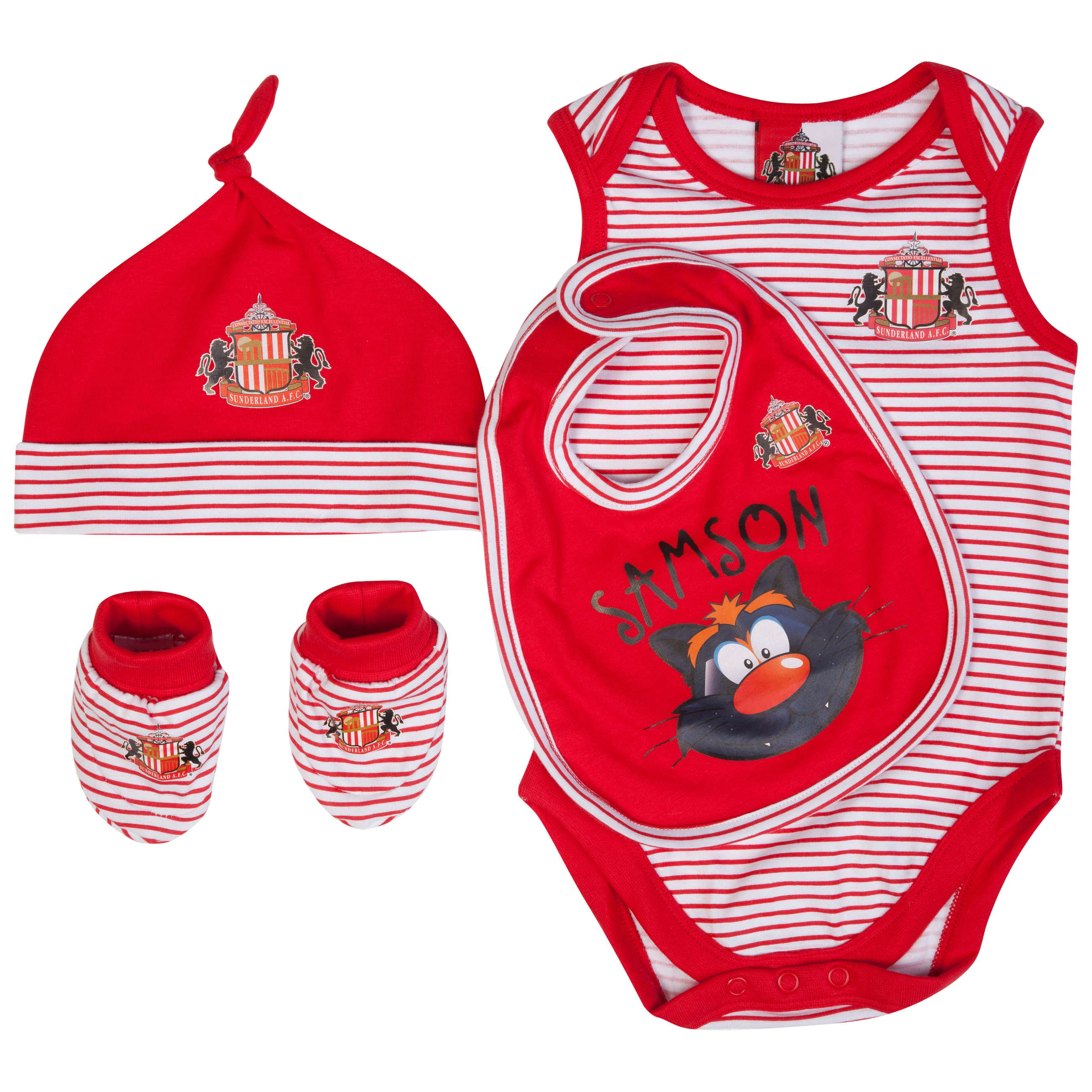 Sunderland 4 Piece Set - White/Red - Baby