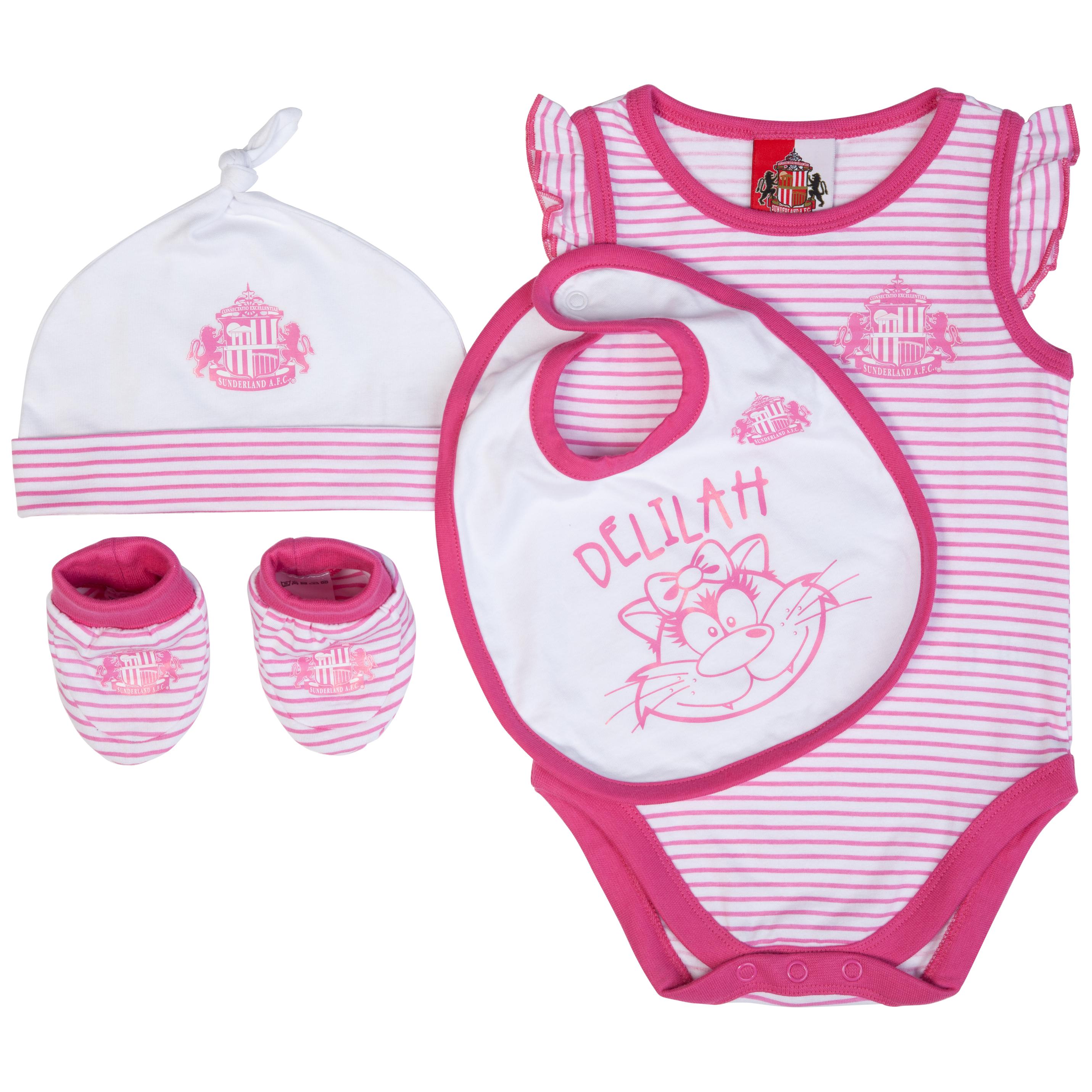 Sunderland 4 Piece Set - Pink/White- Baby
