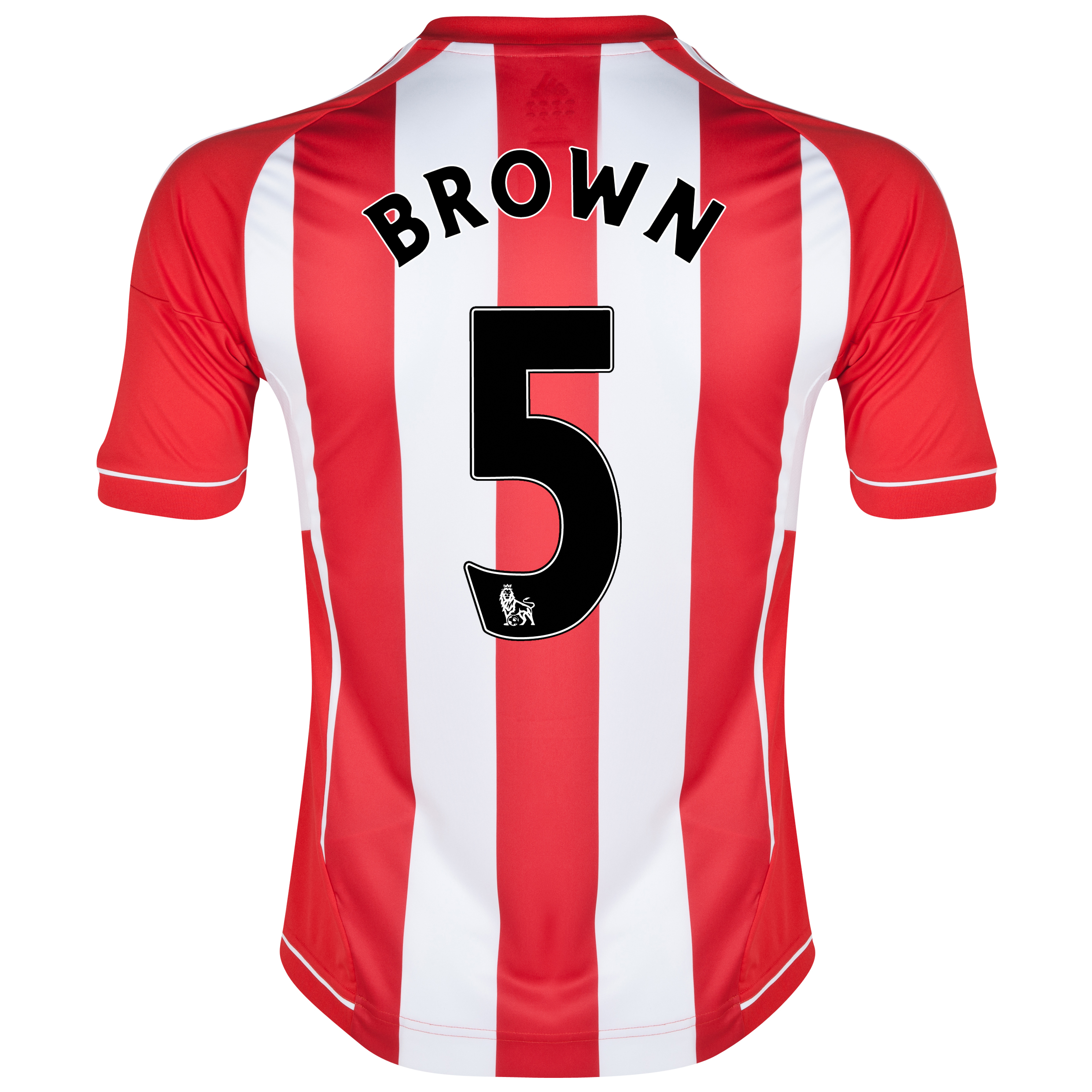 Sunderland Home Shirt 2012/13 with Brown 5 printing