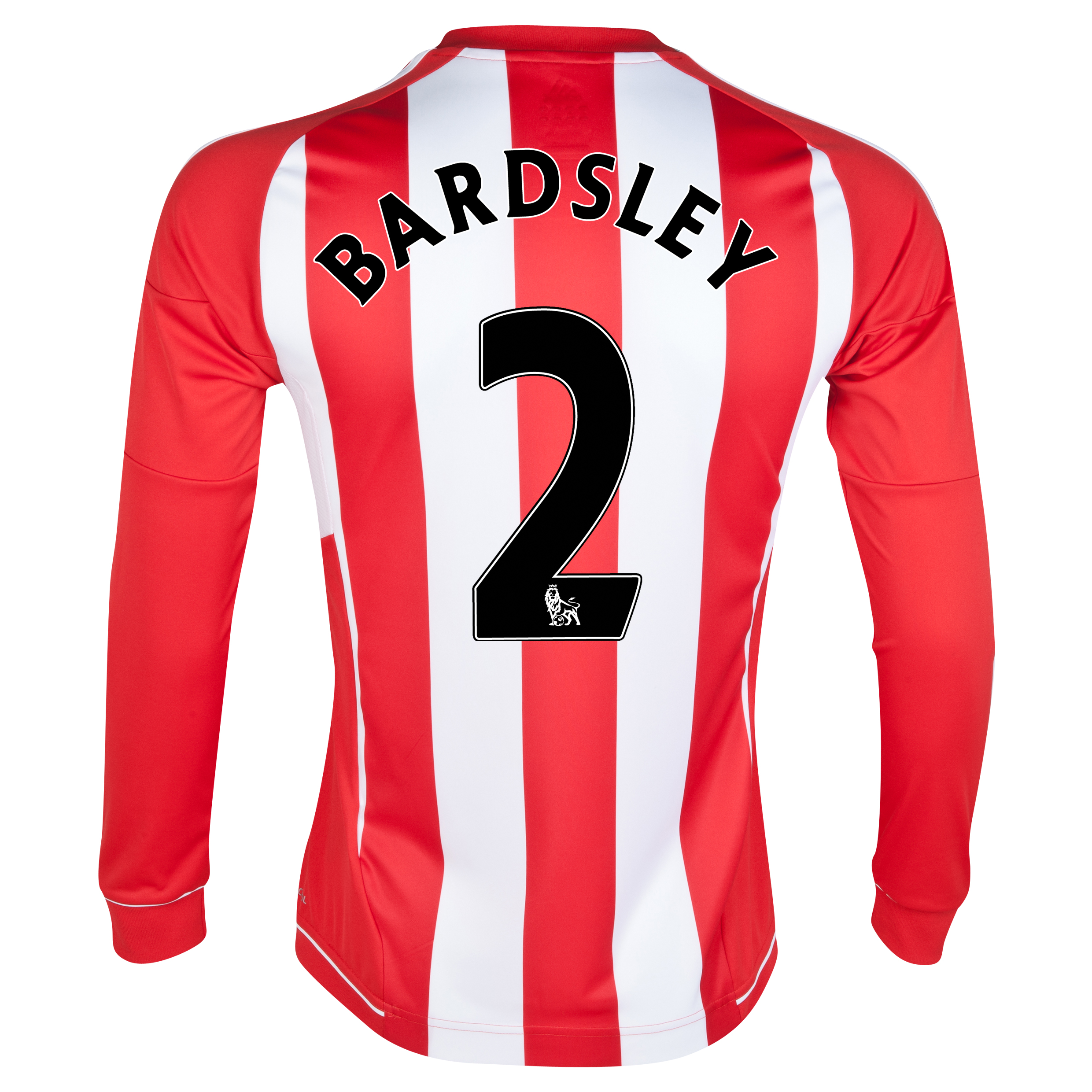 Sunderland Home Shirt 2012/13 - Long Sleeved with Bardsley 2 printing