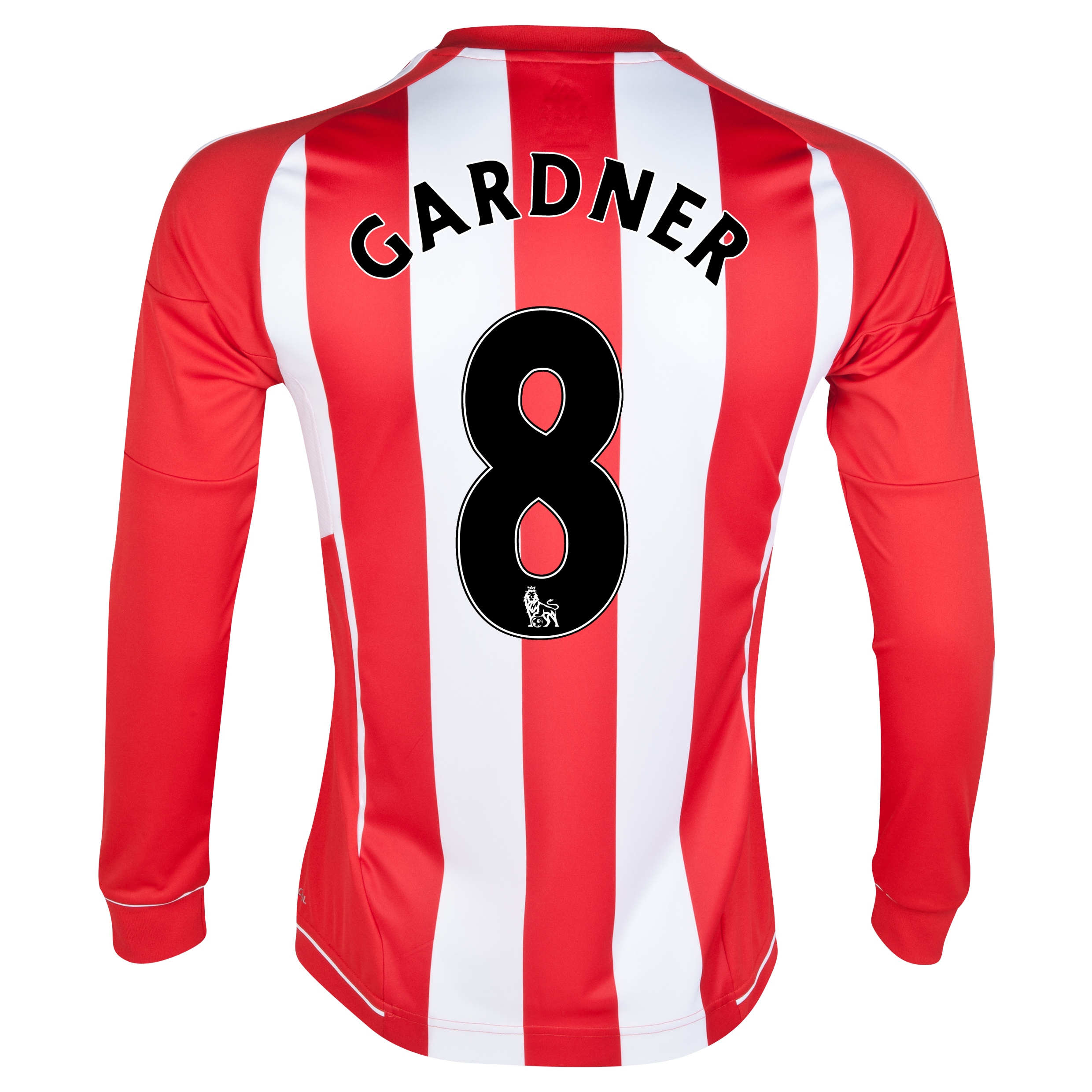 Sunderland Home Shirt 2012/13 - Long Sleeved with Gardner 8 printing