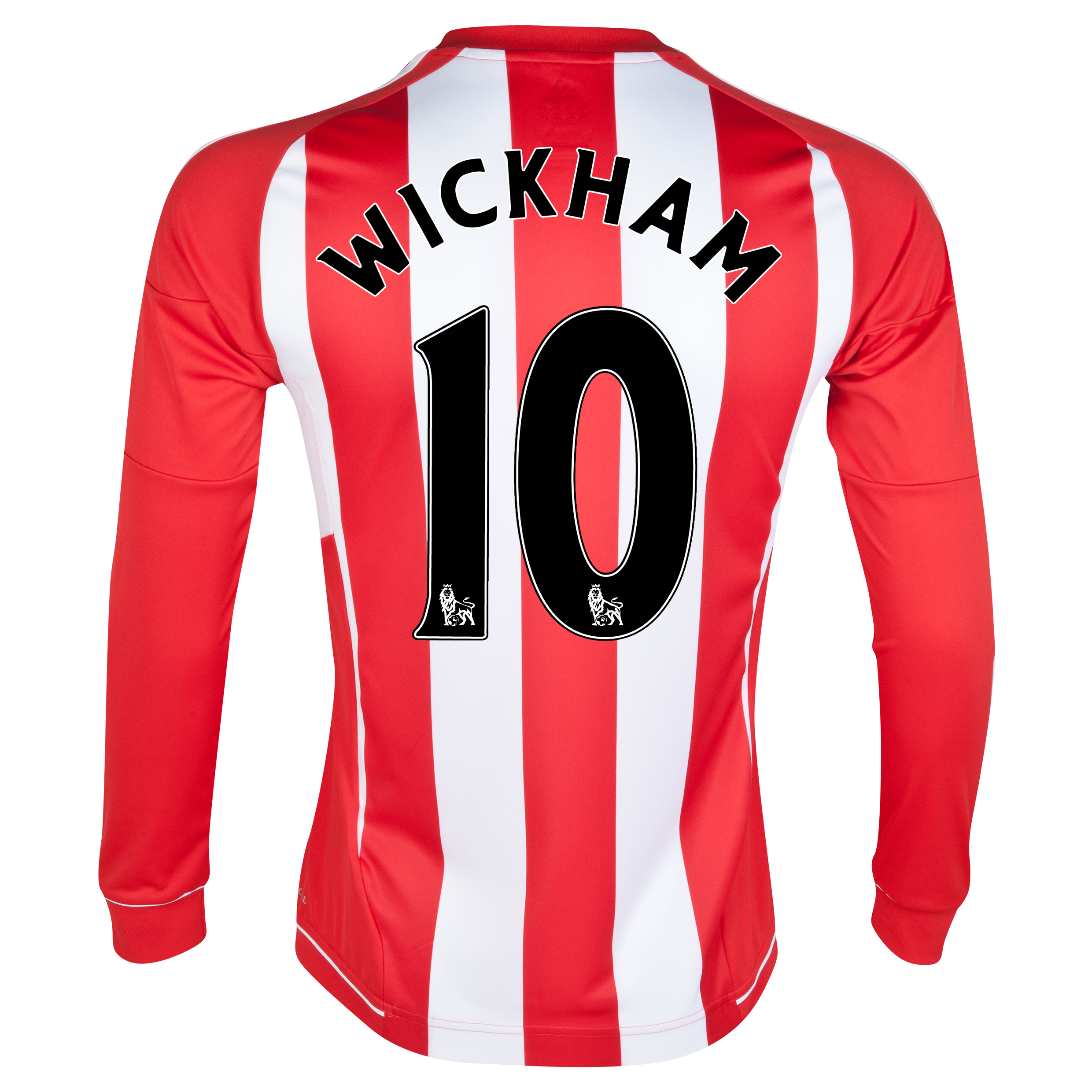 Sunderland Home Shirt 2012/13 - Long Sleeved with Wickham 10 printing