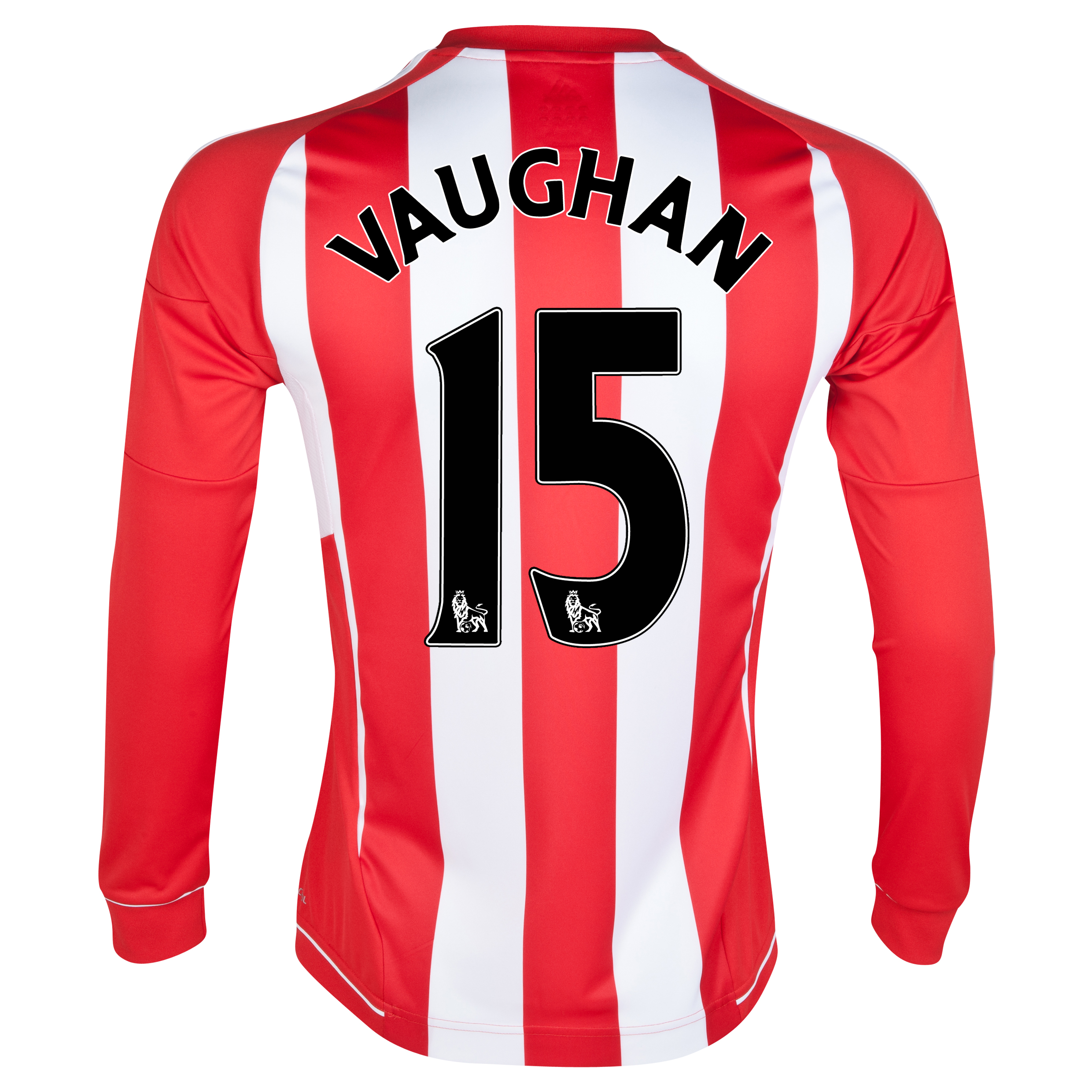 Sunderland Home Shirt 2012/13 - Long Sleeved with Vaughan 15 printing