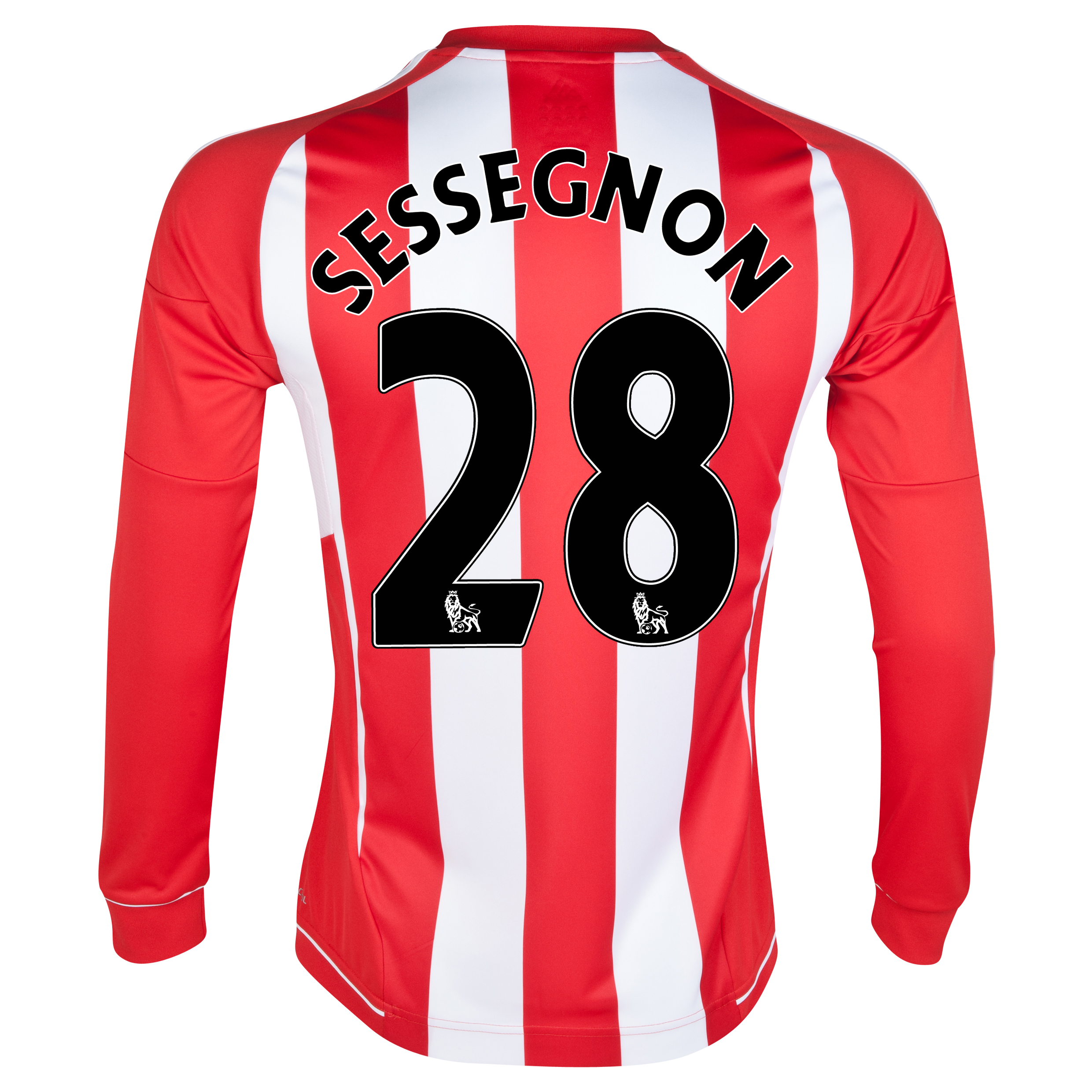 Sunderland Home Shirt 2012/13 - Long Sleeved with Sessegnon 28 printing