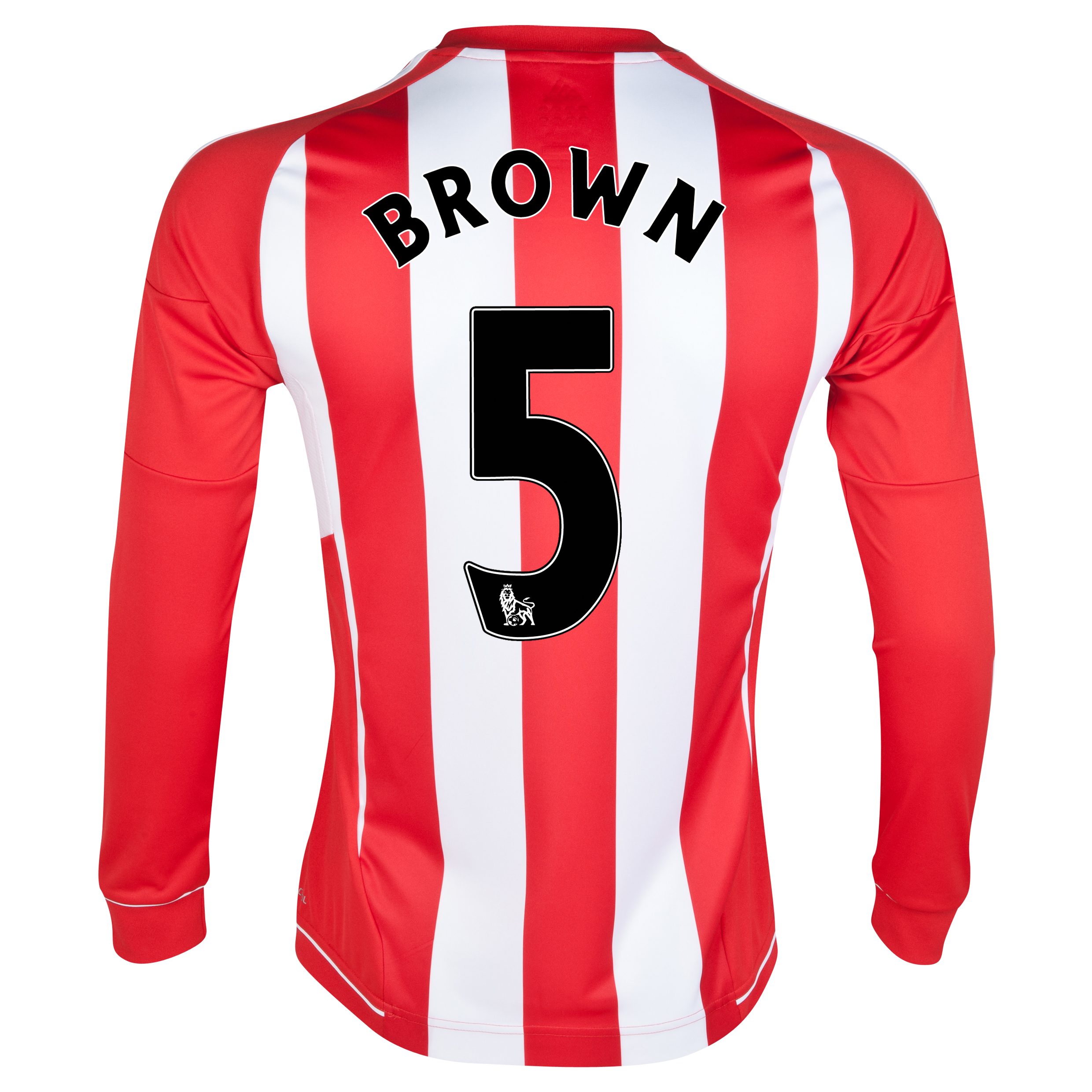 Sunderland Home Shirt 2012/13 - Long Sleeved - Junior with Brown 5 printing