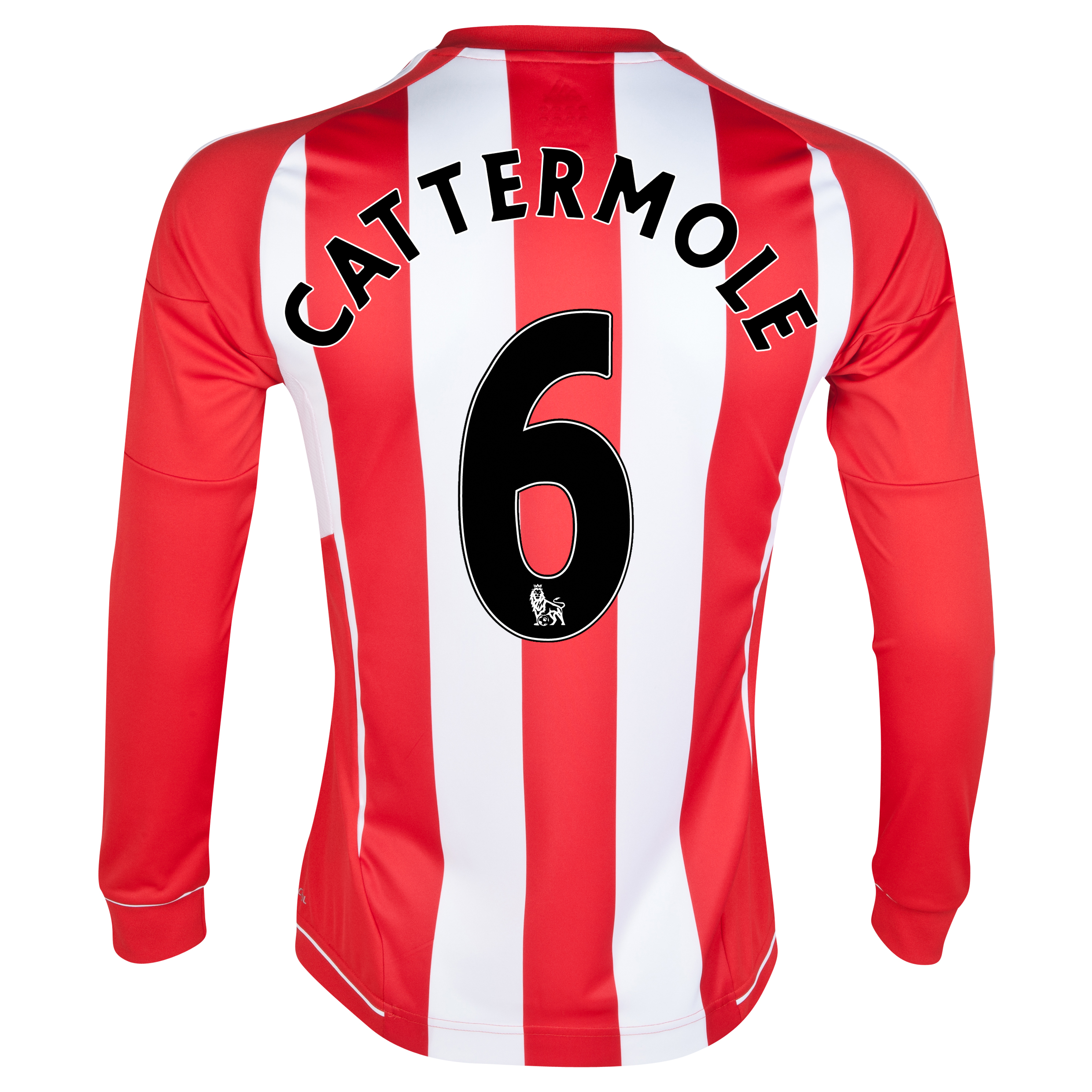 Sunderland Home Shirt 2012/13 - Long Sleeved - Junior with Cattermole 6 printing