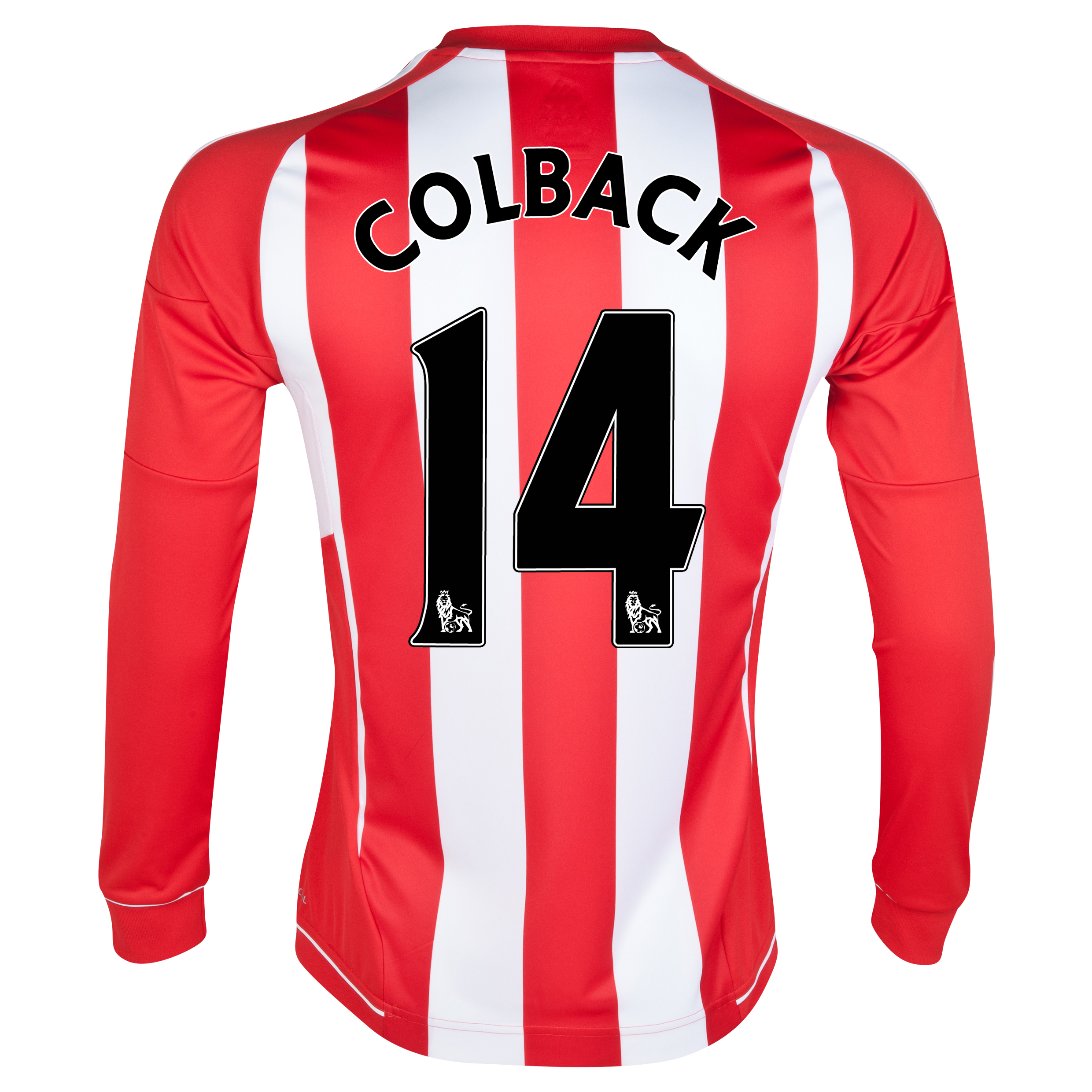 Sunderland Home Shirt 2012/13 - Long Sleeved - Junior with Colback 14 printing