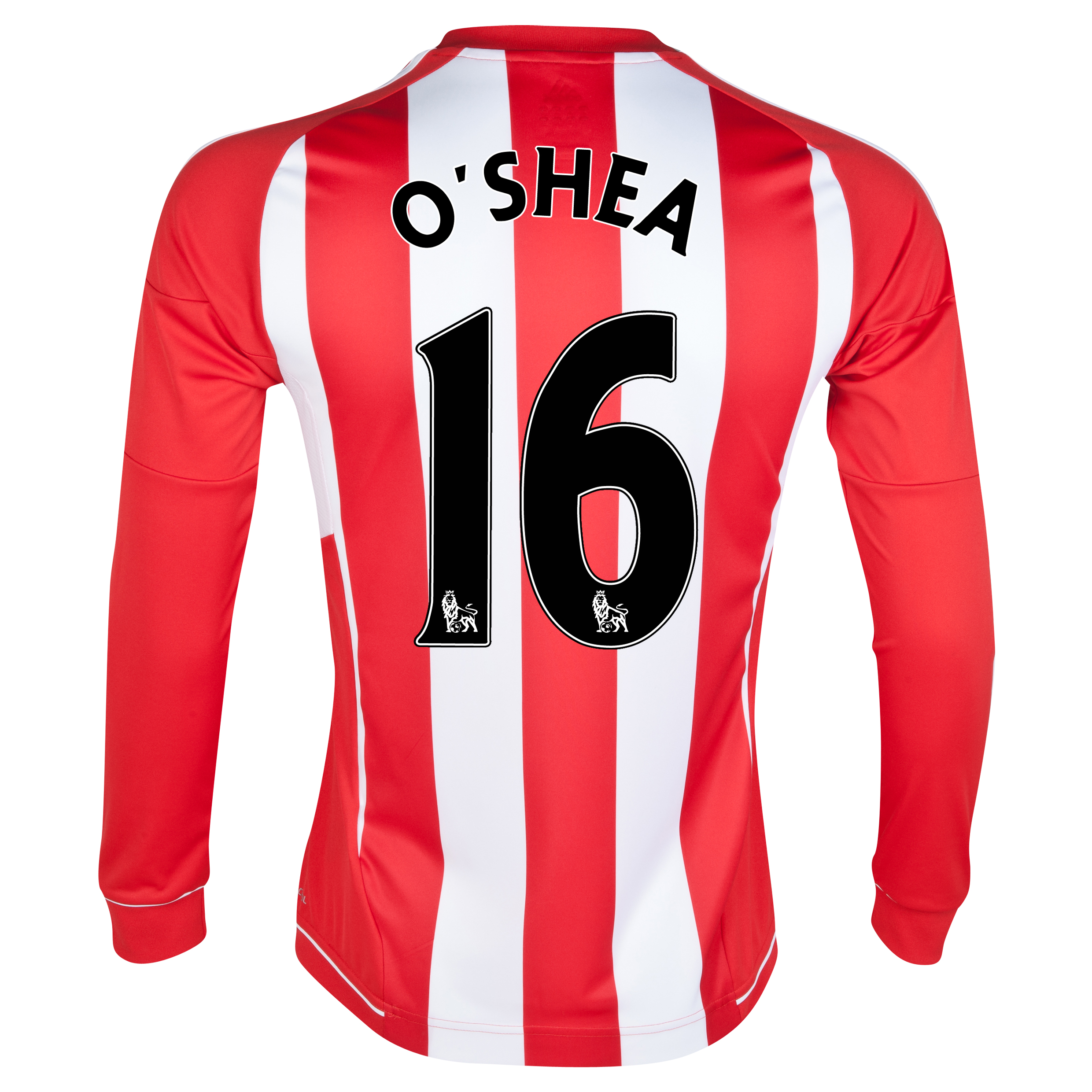 Sunderland Home Shirt 2012/13 - Long Sleeved - Junior with O'Shea 16 printing