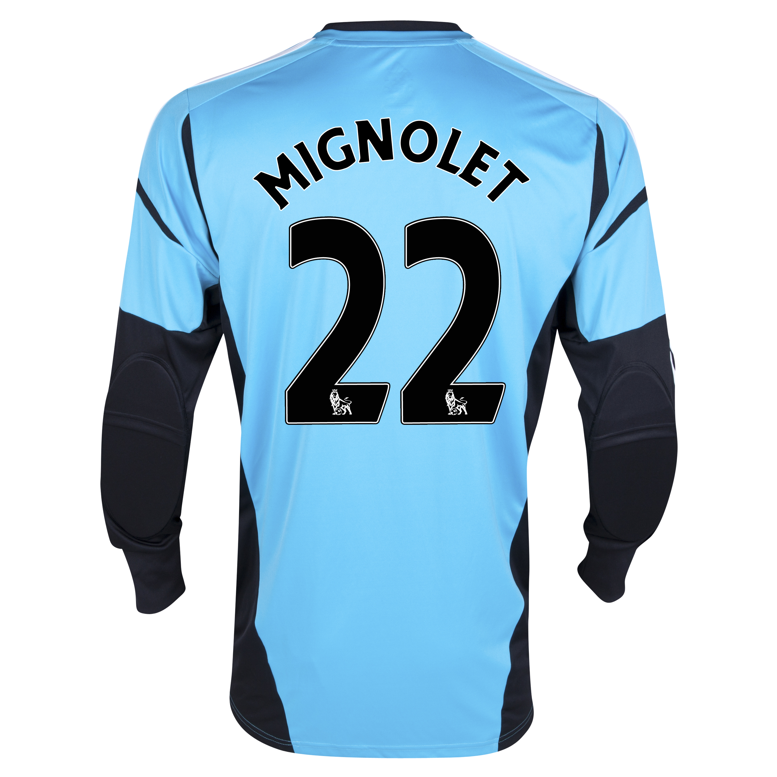 Sunderland Home GoalKeeper Shirt 2012/13 - Junior with Mignolet 22 printing