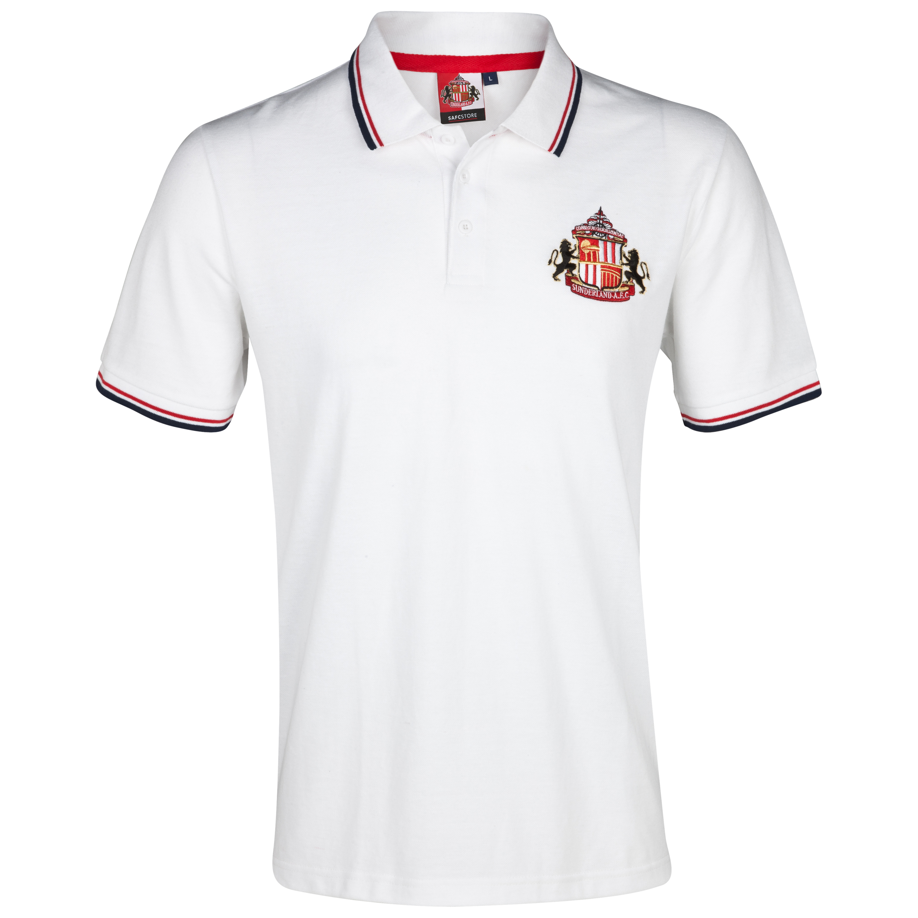 Sunderland Essential Hook Polo Top - White