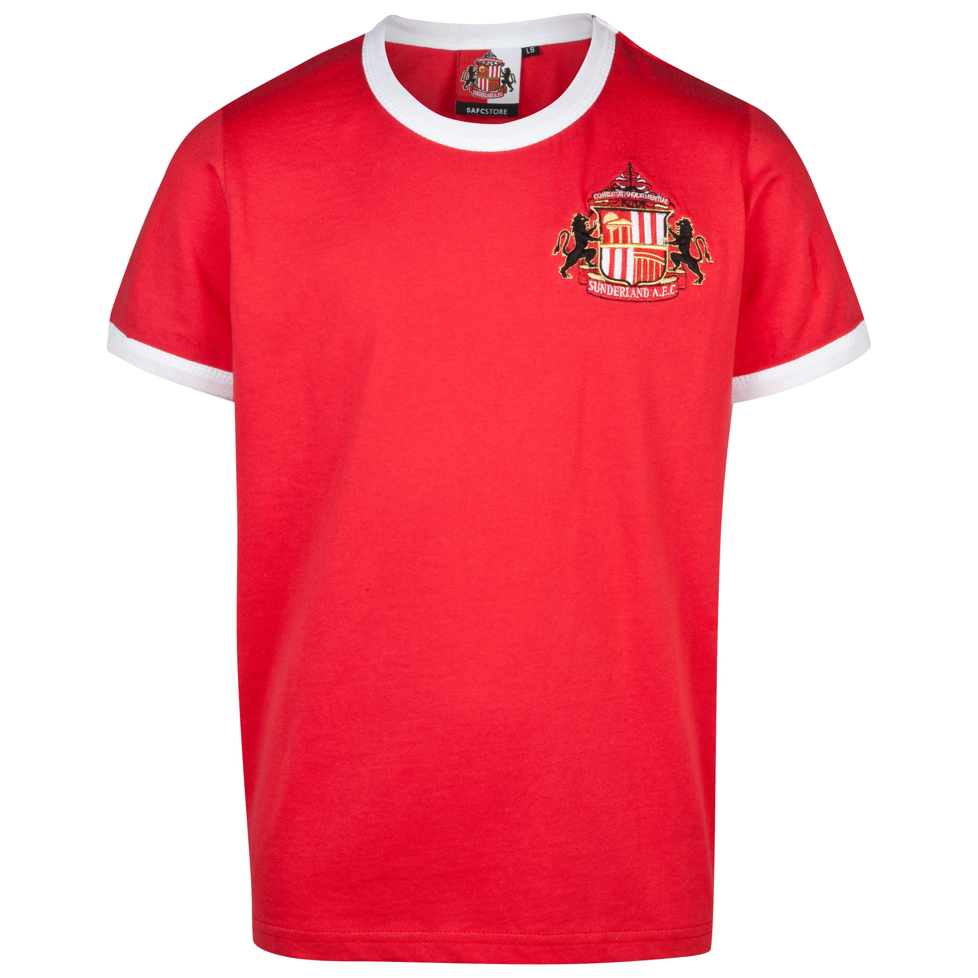 Sunderland Essential Trim T-Shirt - Red - Older Boys