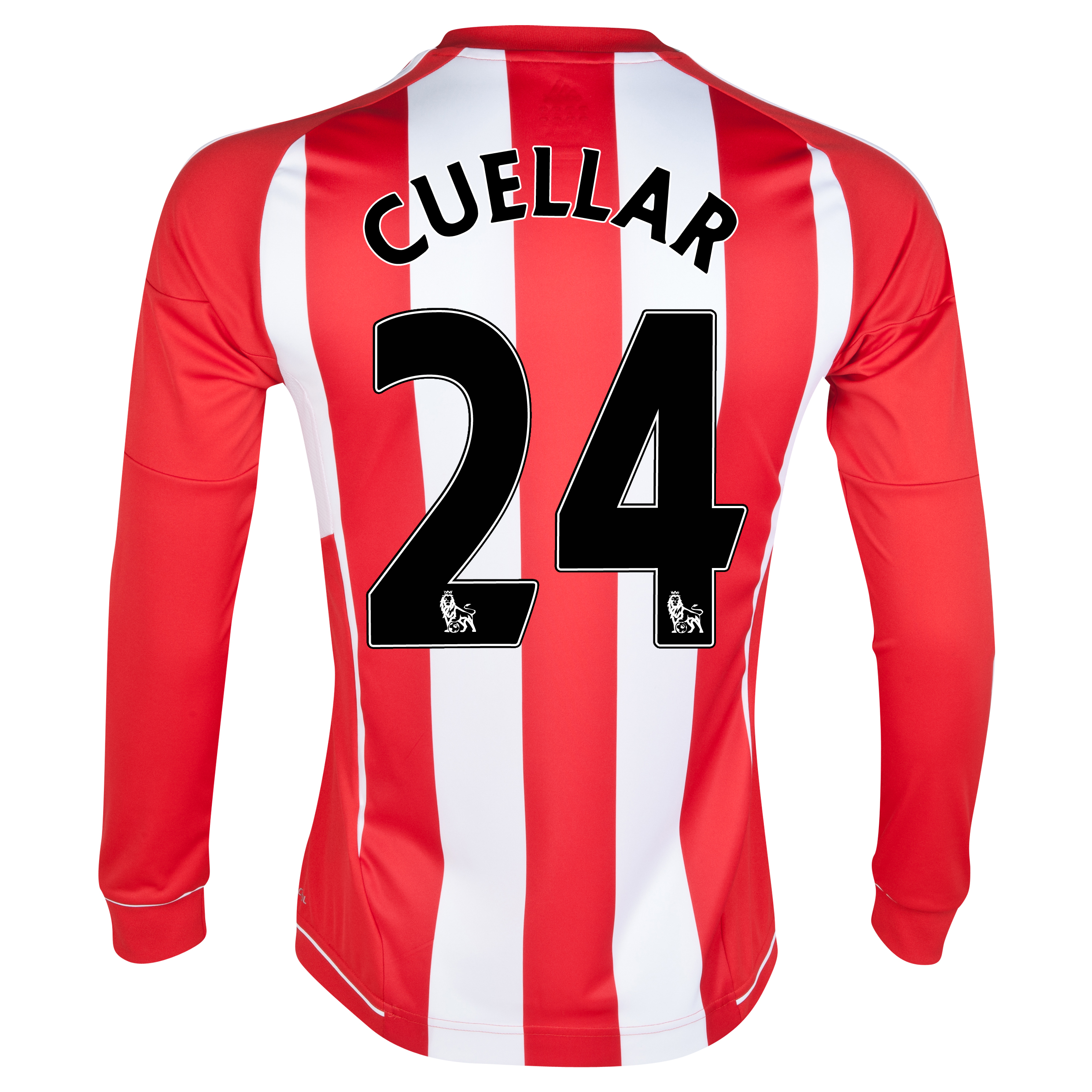 Sunderland Home Shirt 2012/13 - Long Sleeved with Cuellar 24 printing