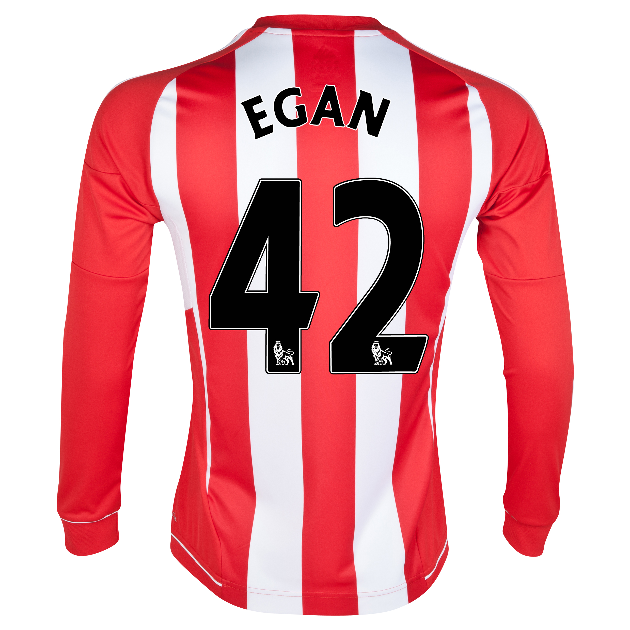 Sunderland Home Shirt 2012/13 - Long Sleeved with Egan 42 printing