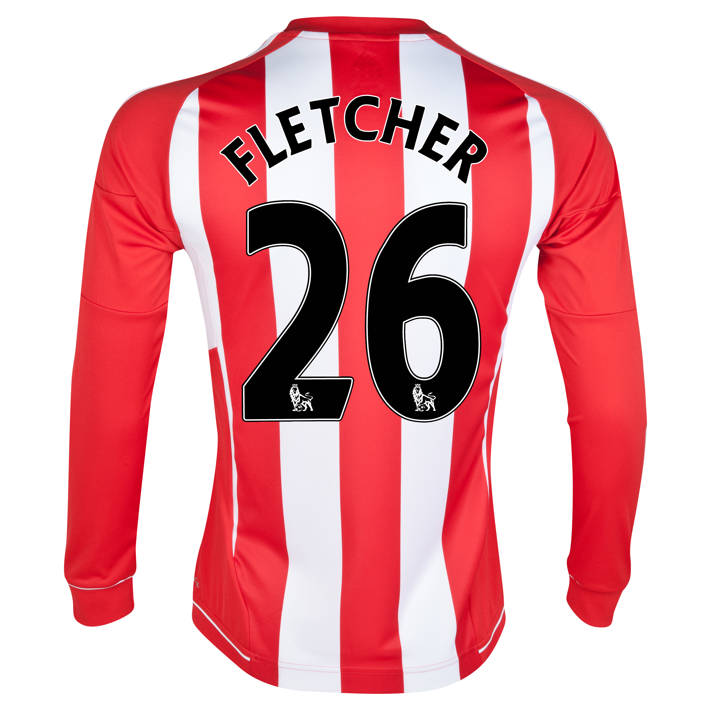Sunderland Home Shirt 2012/13 - Long Sleeved - Junior with Fletcher 26 printing