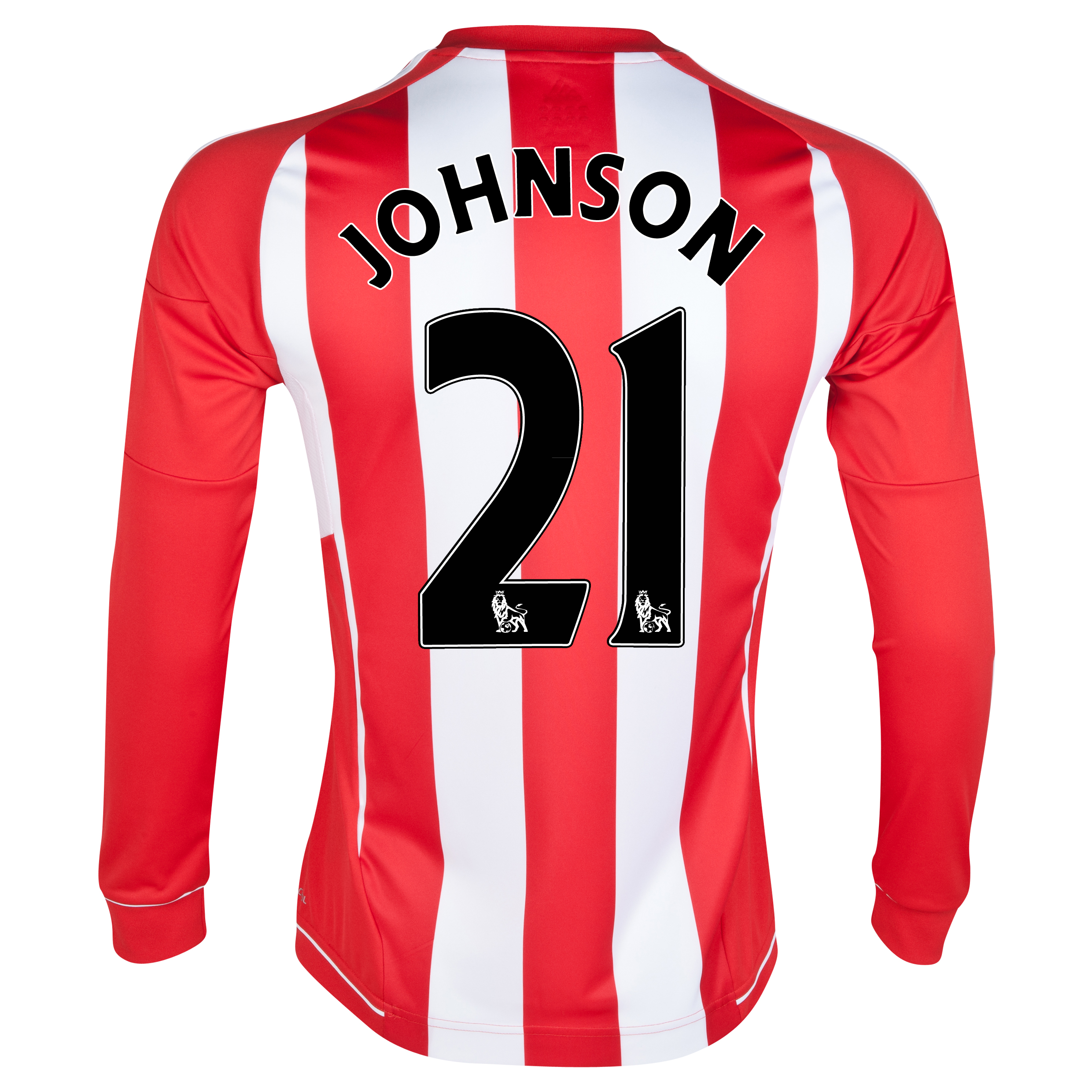 Sunderland Home Shirt 2012/13 - Long Sleeved with Johnson 21 printing