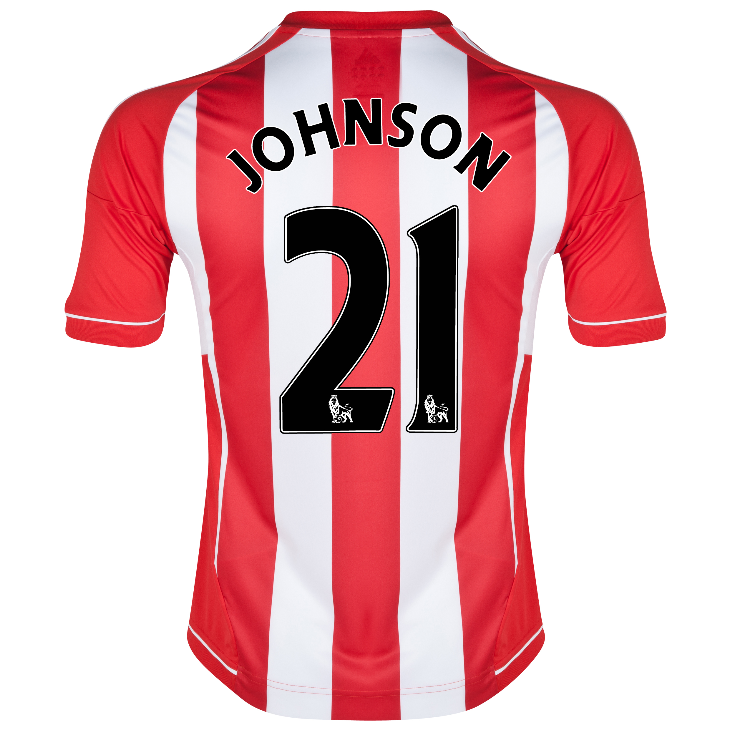 Sunderland Home Shirt 2012/13 - Junior with Johnson 21 printing