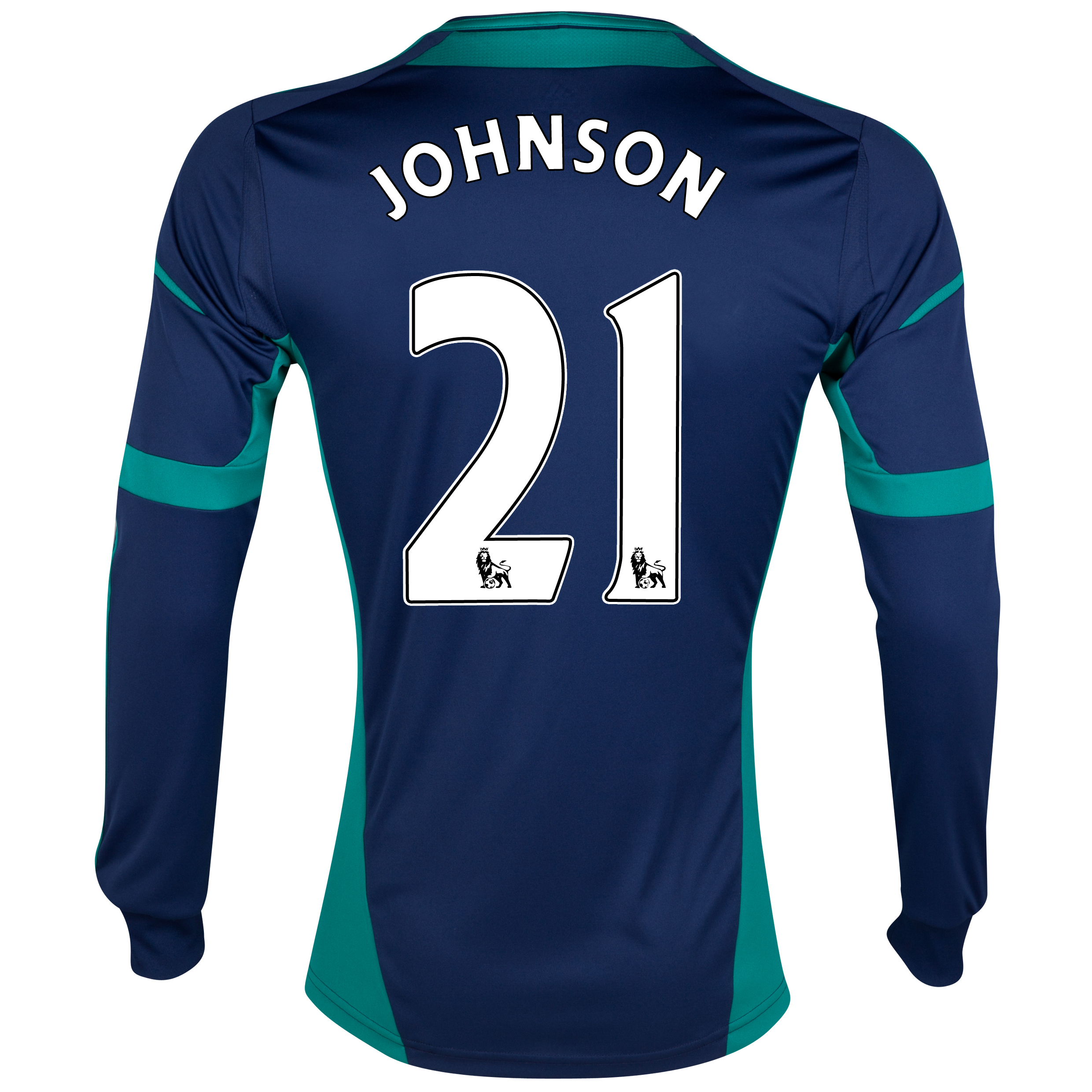 Sunderland Away Shirt 2012/13 - Long Sleeved with Johnson 21 printing