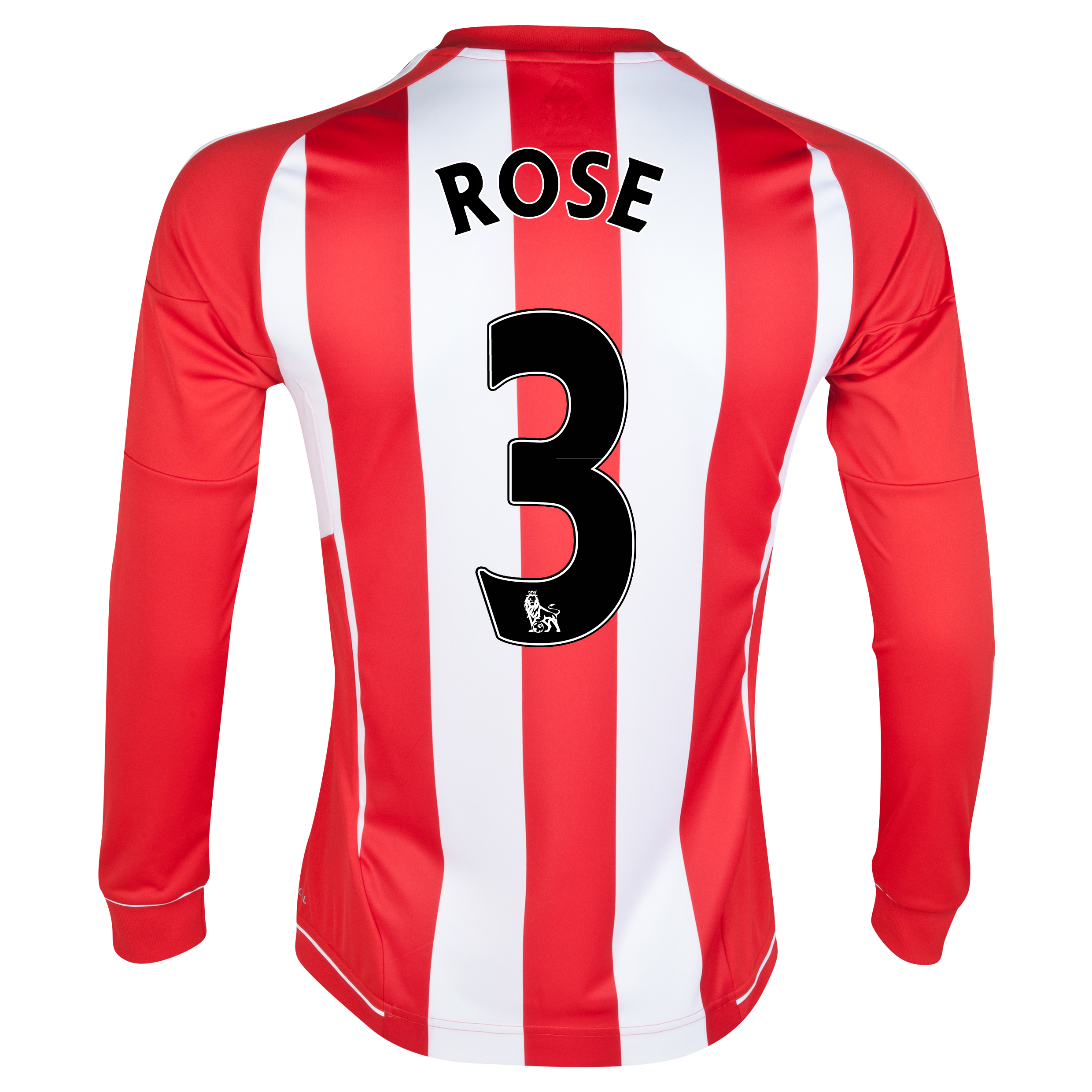 Sunderland Home Shirt 2012/13 - Long Sleeved with Rose 3 printing