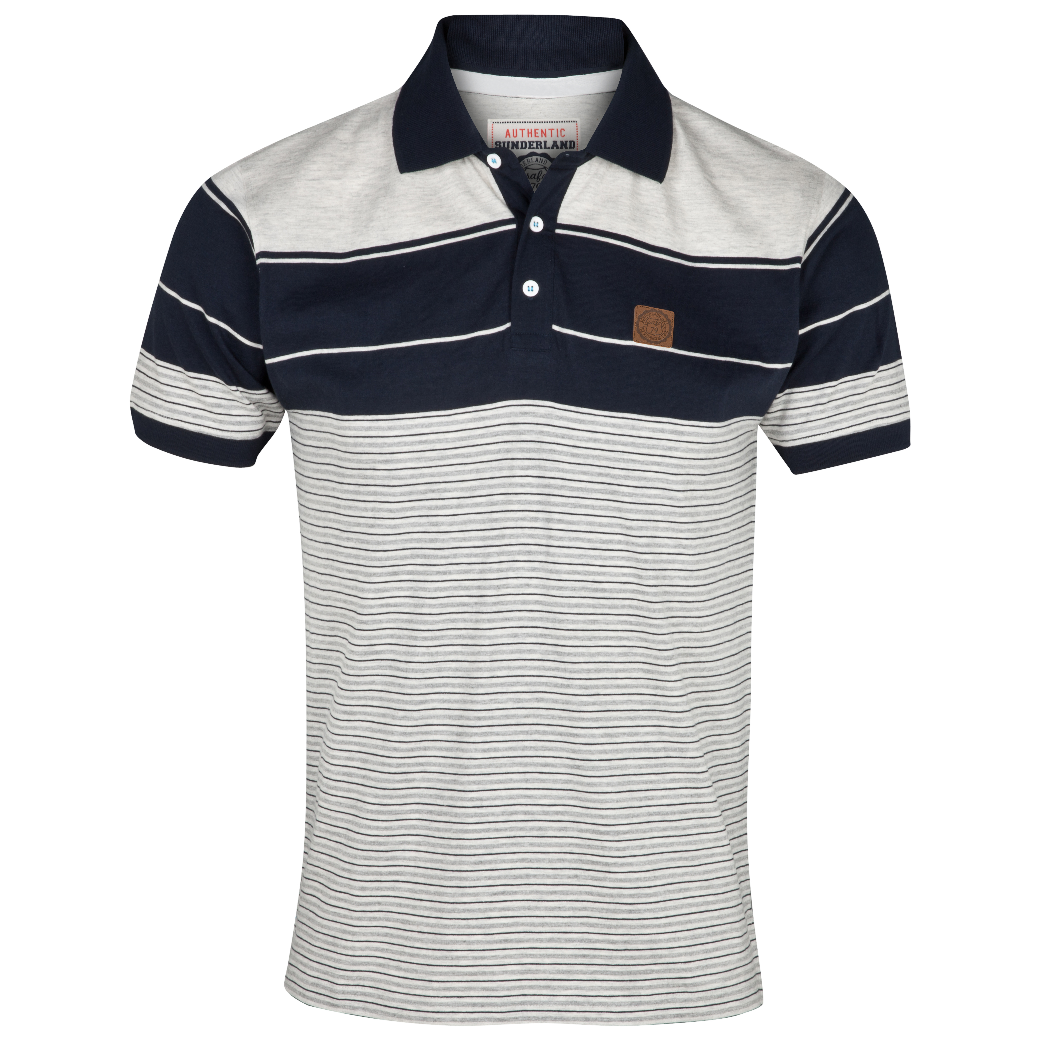 Sunderland Tide Polo Top - Navy/Ecru Marl
