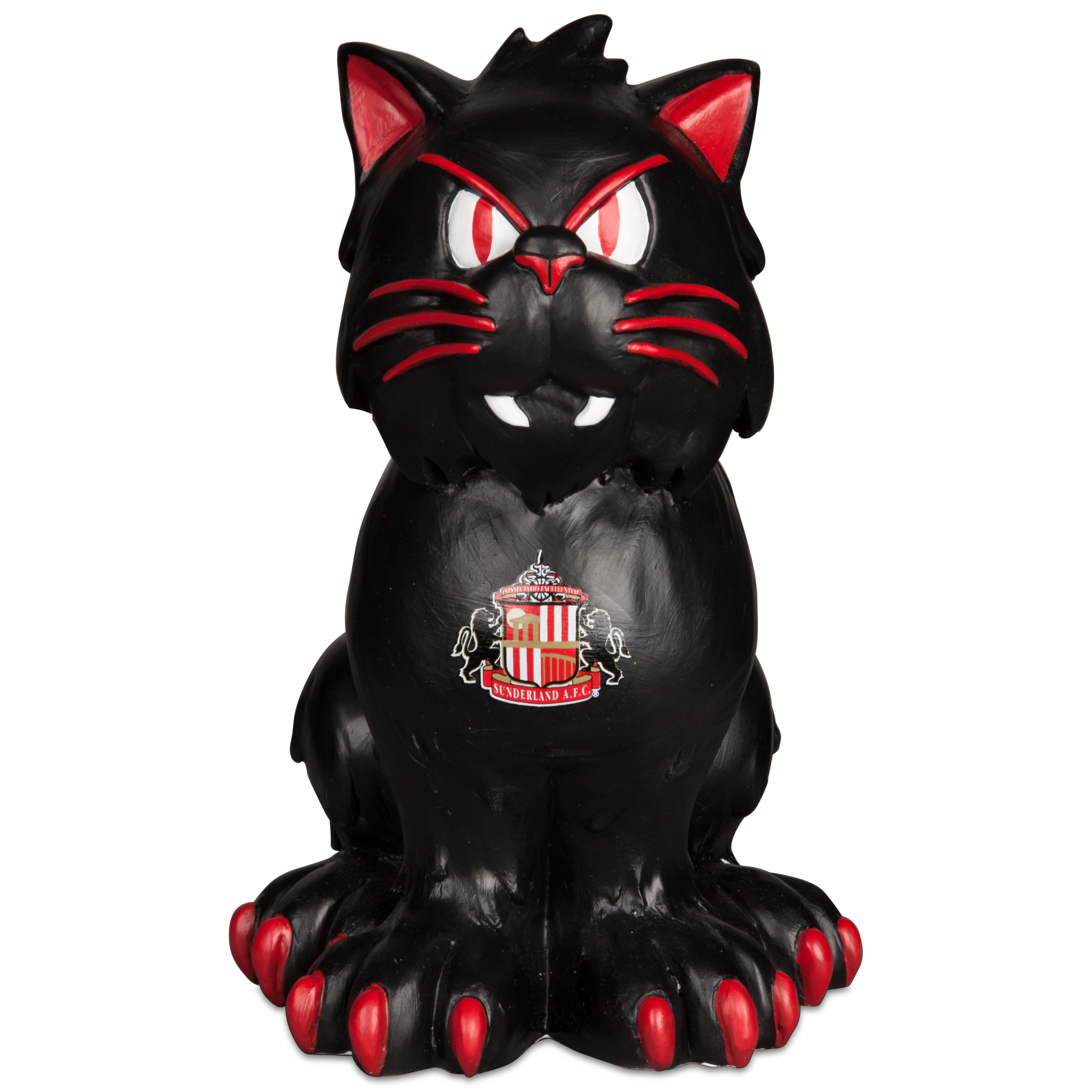 Sunderland Themed Black Cat Garden Statue