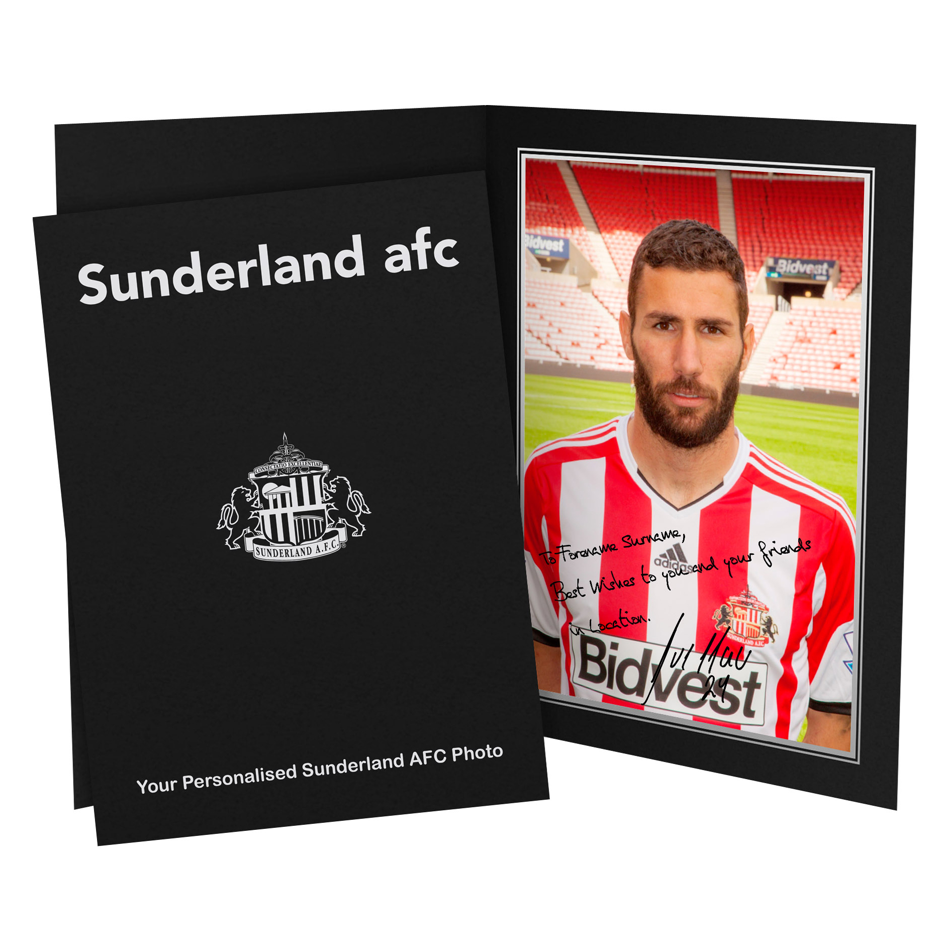 Sunderland Personalised Signature Photo in Presentation Folder - Cuellar
