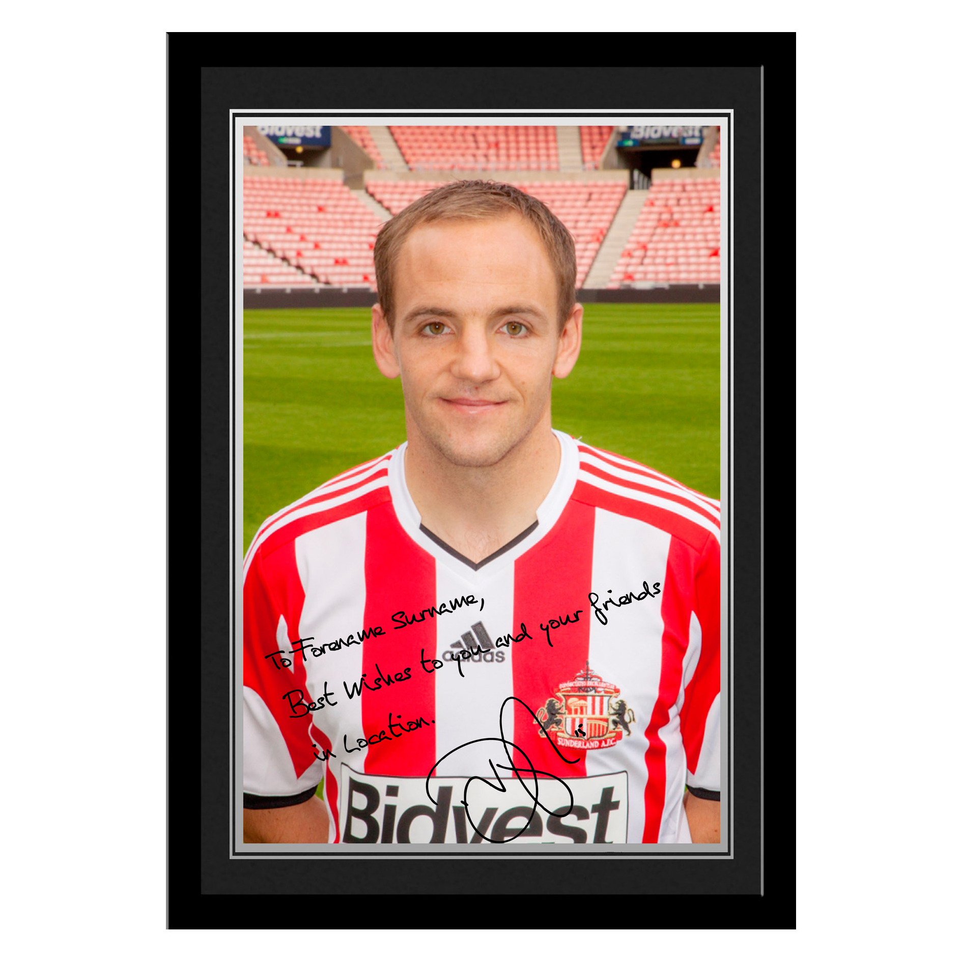 Sunderland Personalised Signature Photo Framed - Vaughan