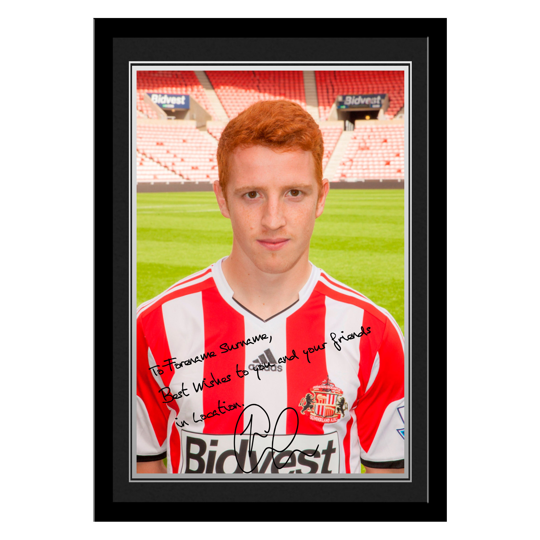 Sunderland Personalised Signature Photo Framed - Colback