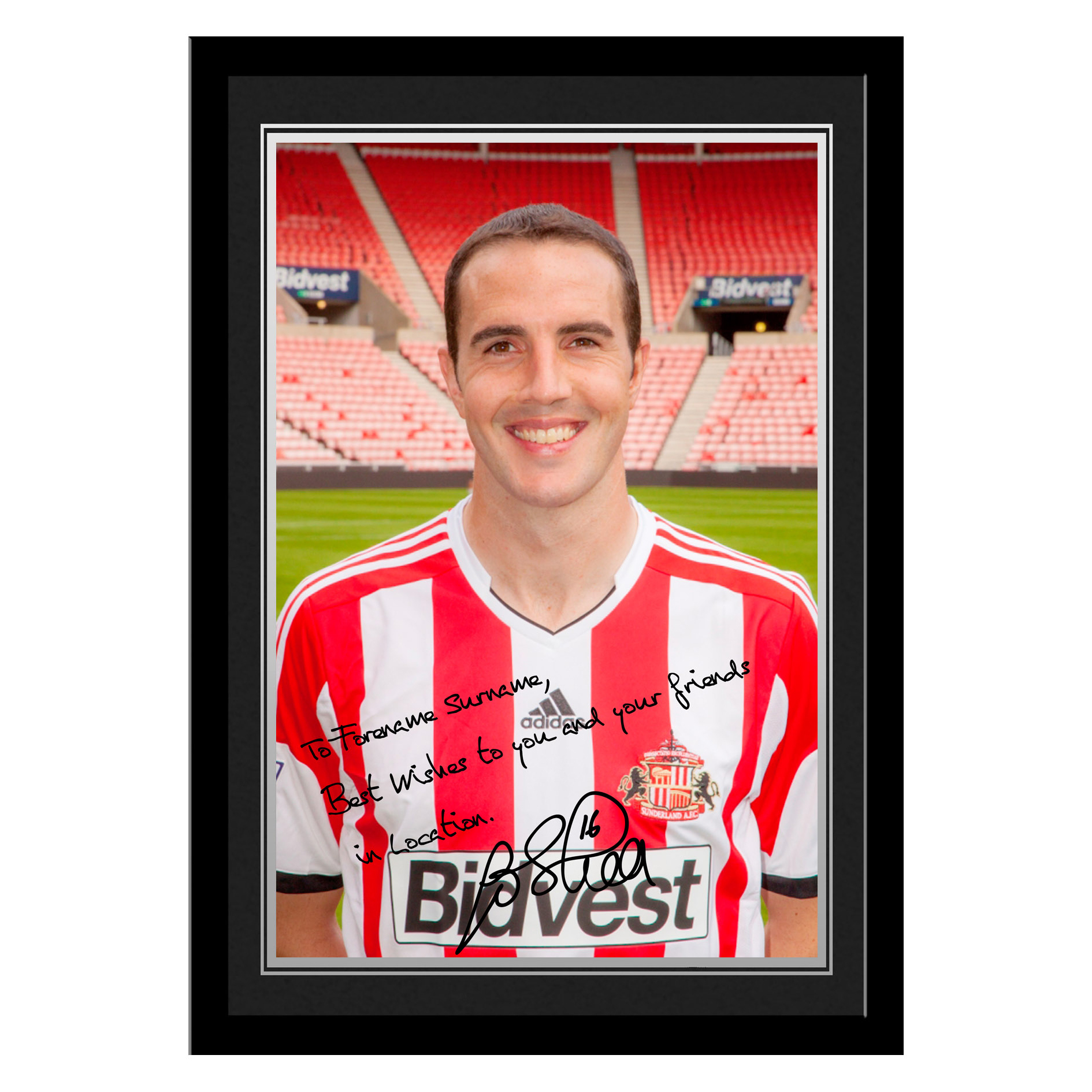 Sunderland Personalised Signature Photo Framed - O Shea