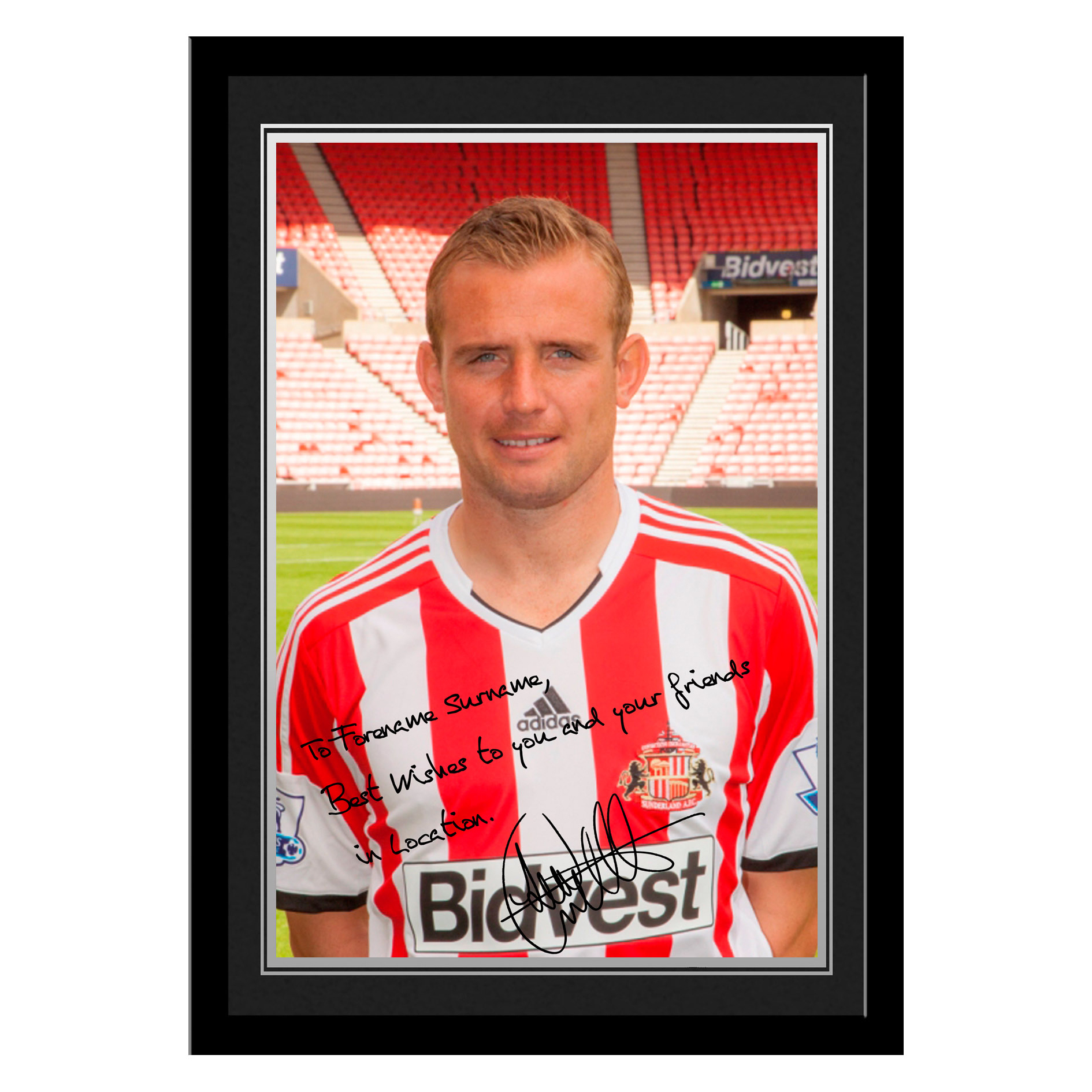 Sunderland Personalised Signature Photo Framed - Cattermole