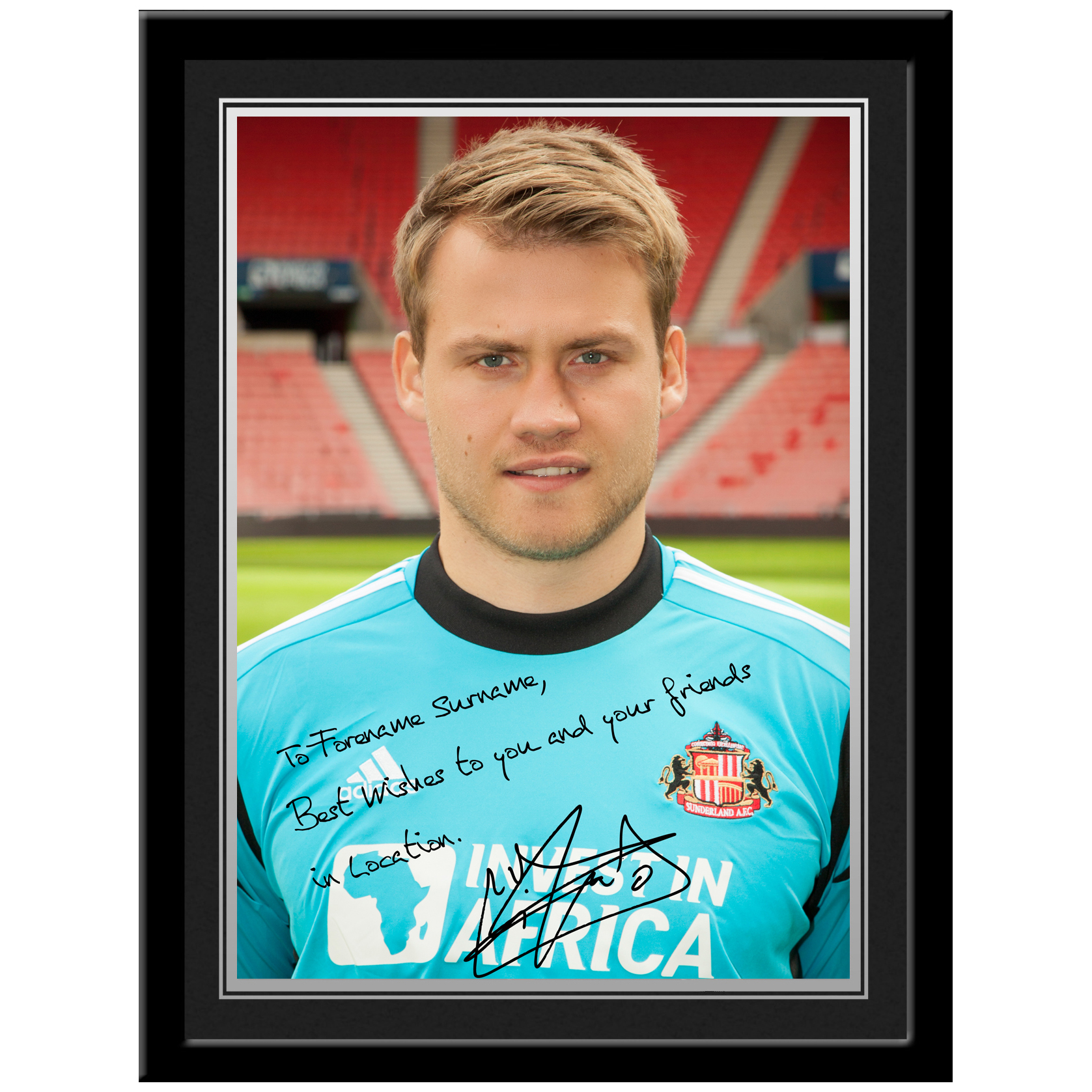 Sunderland Personalised Signature Photo Framed - Mignolet