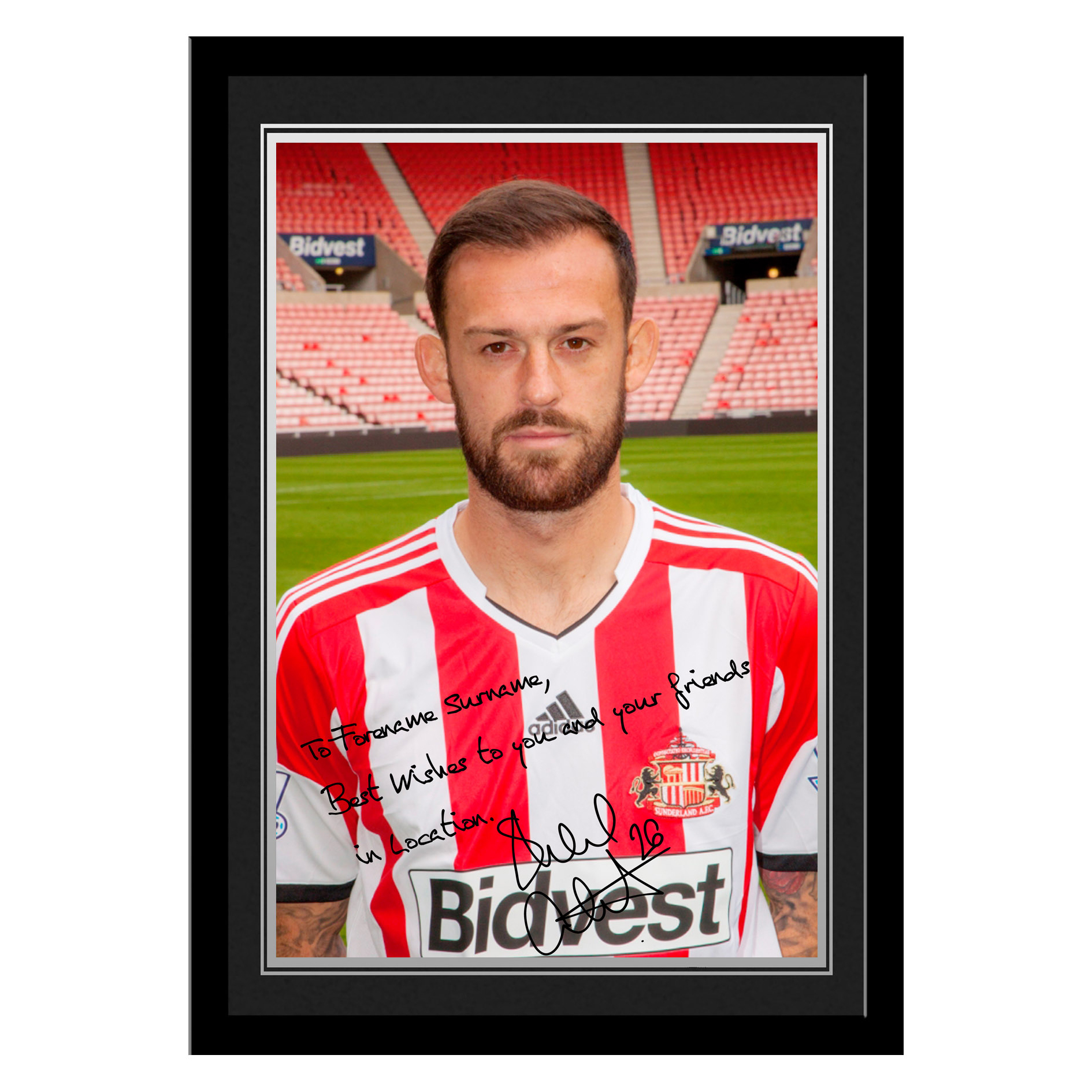 Sunderland Personalised Signature Photo Framed - Fletcher