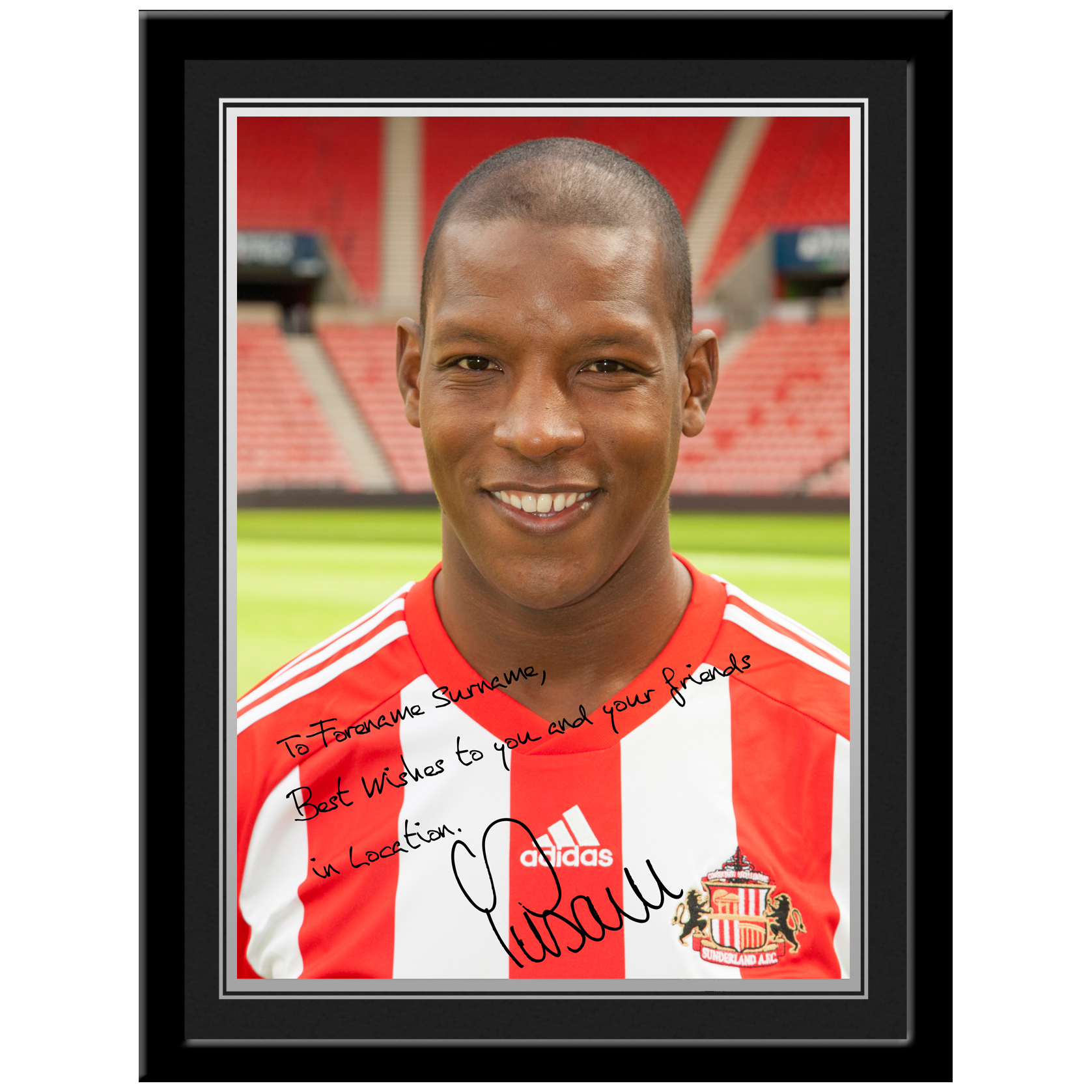 Sunderland Personalised Signature Photo Framed - Bramble