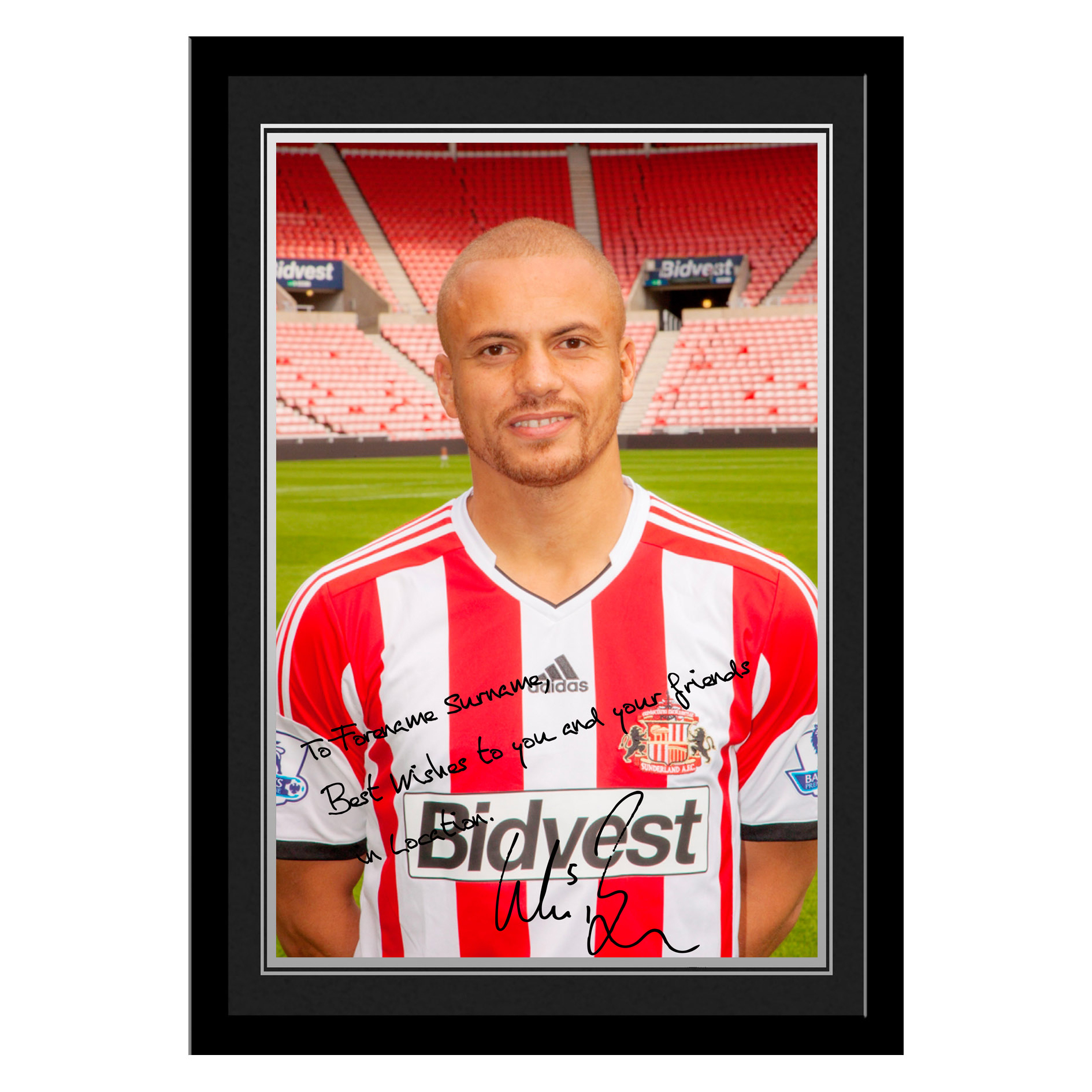 Sunderland Personalised Signature Photo Framed - Brown