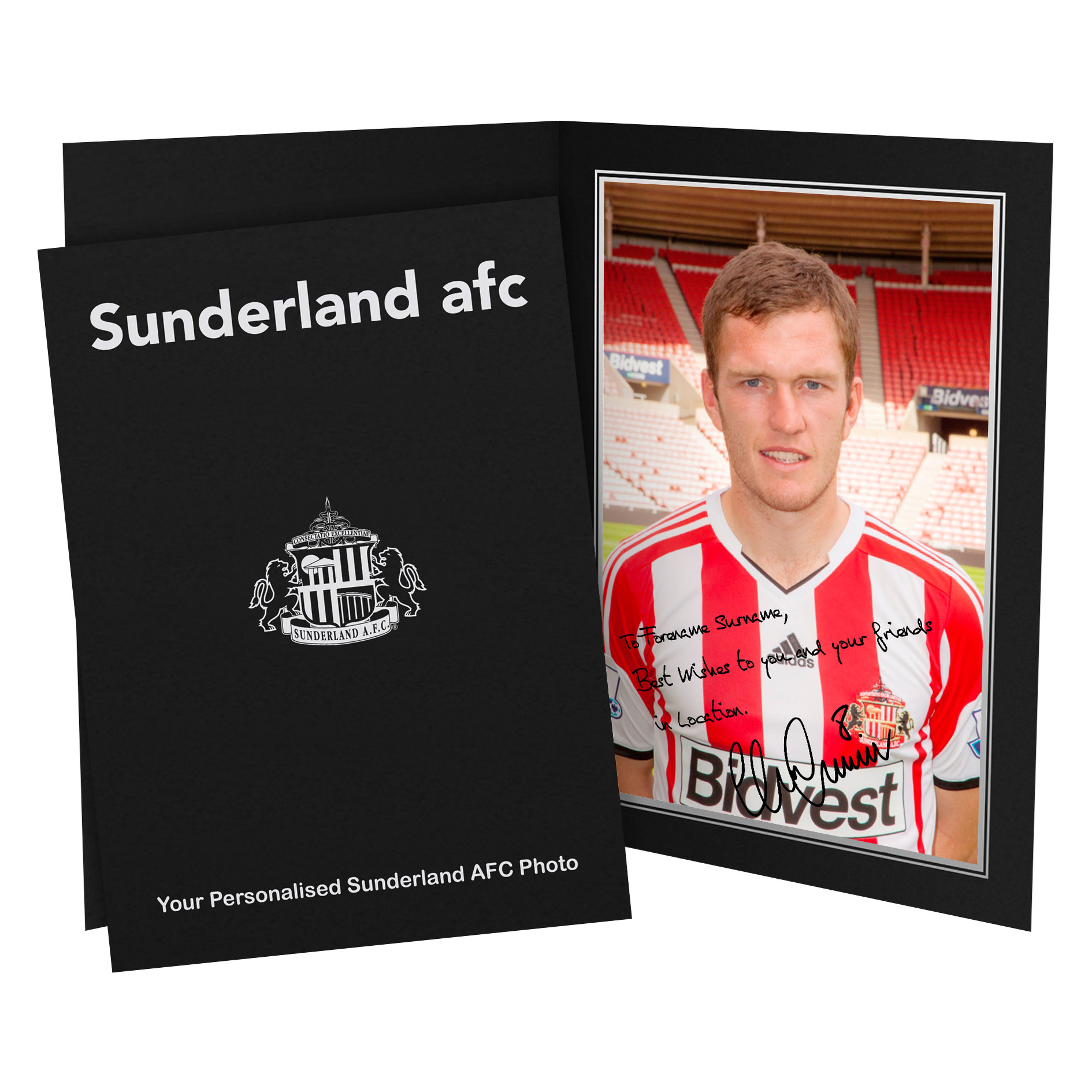 Sunderland Personalised Signature Photo in Presentation Folder - Gardner